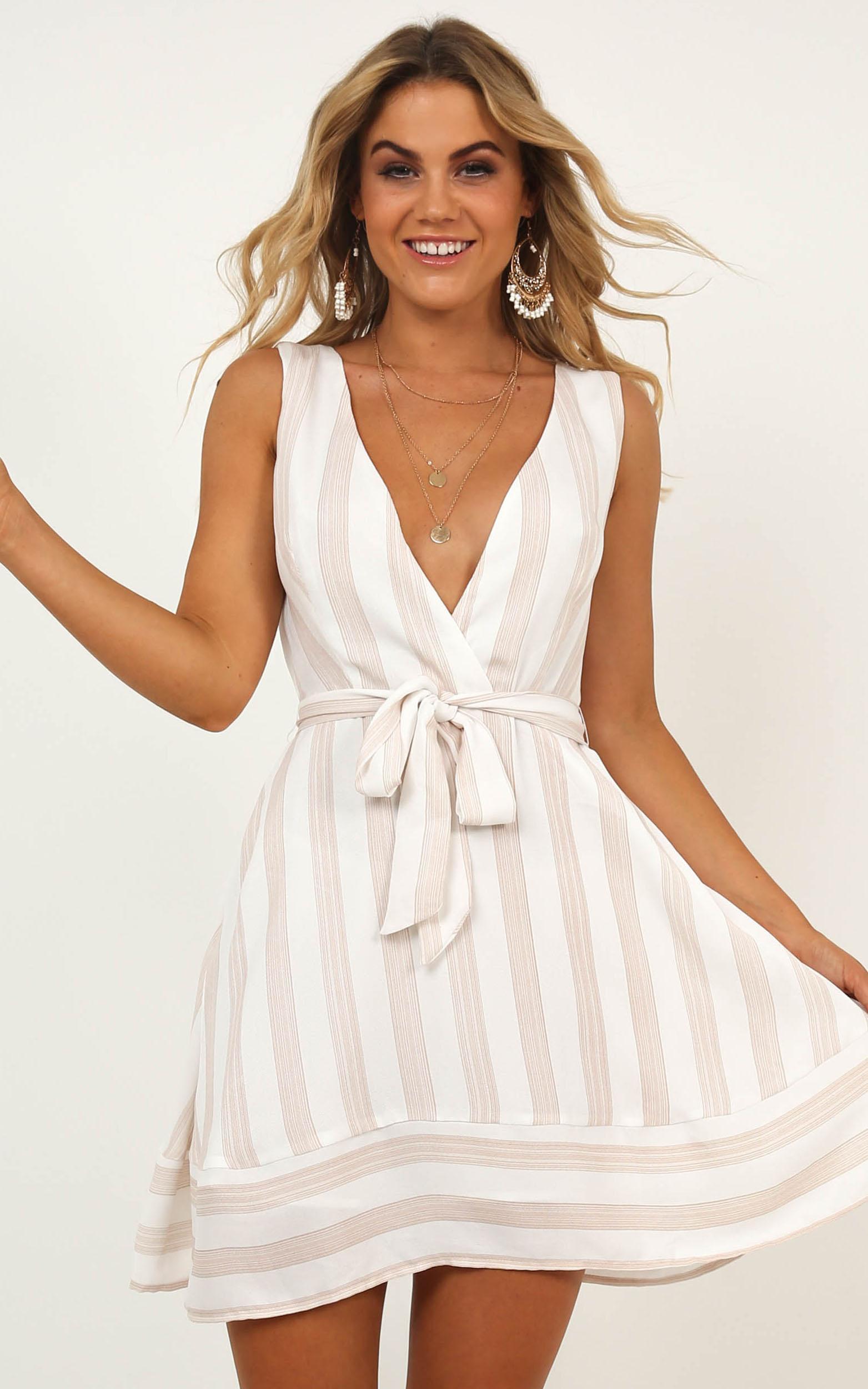 Behind The Art Dress in blush stripe - 18 (XXXL), Blush, hi-res image number null