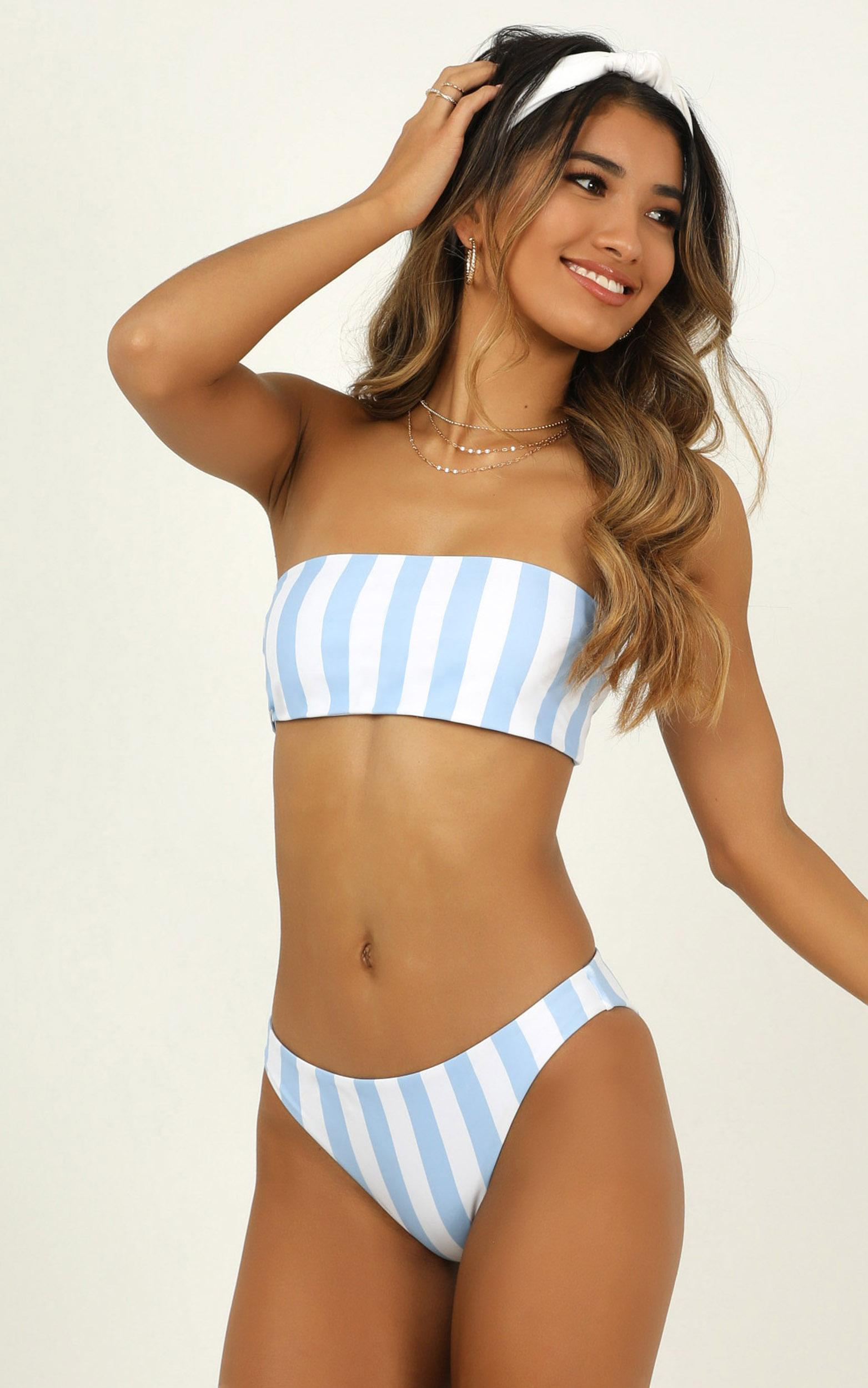 Emilee Bikini Top in blue stripe - 20 (XXXXL), Blue, hi-res image number null