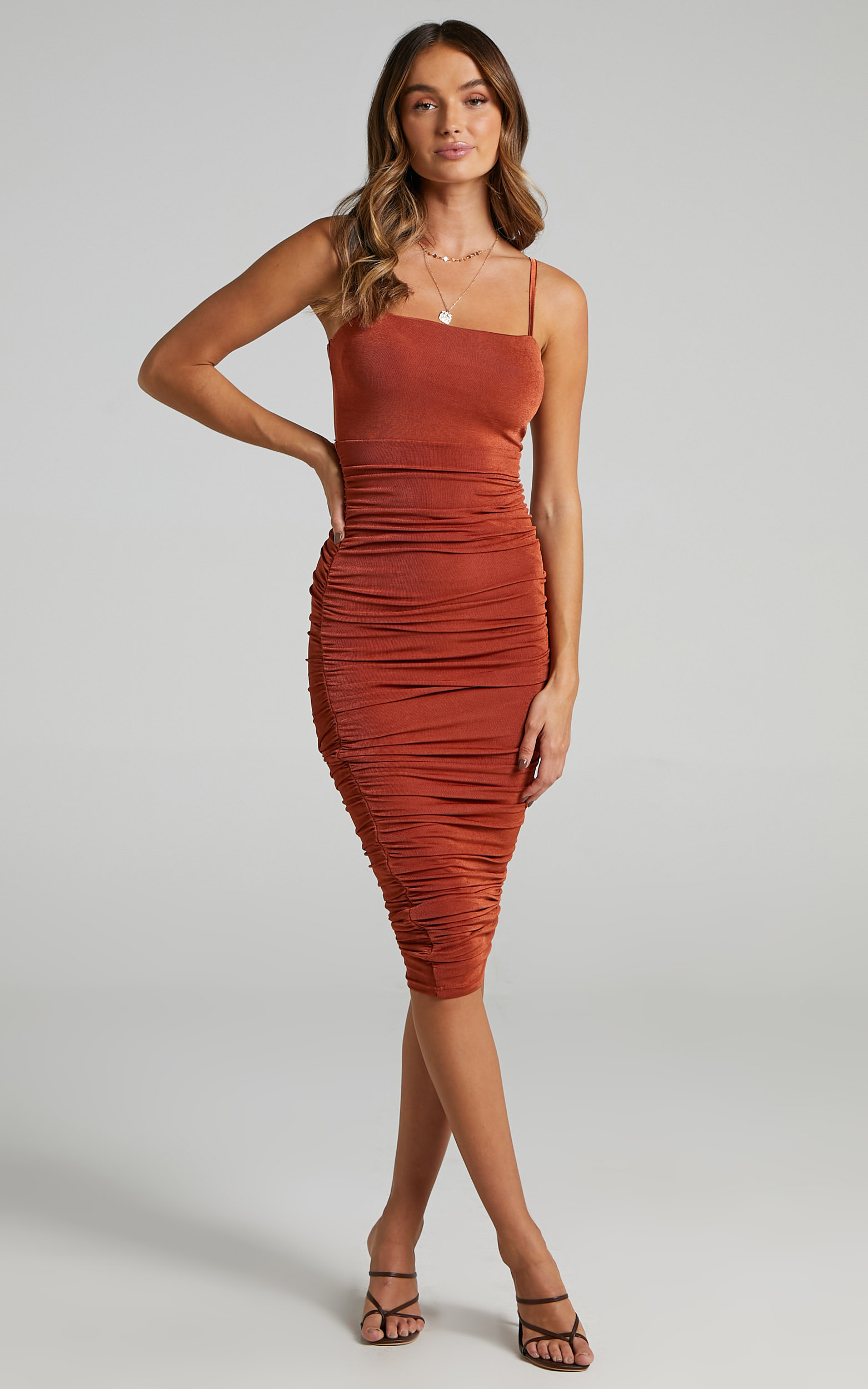Commit To Me Maxi Dress in Rust - 04, BRN1, hi-res image number null