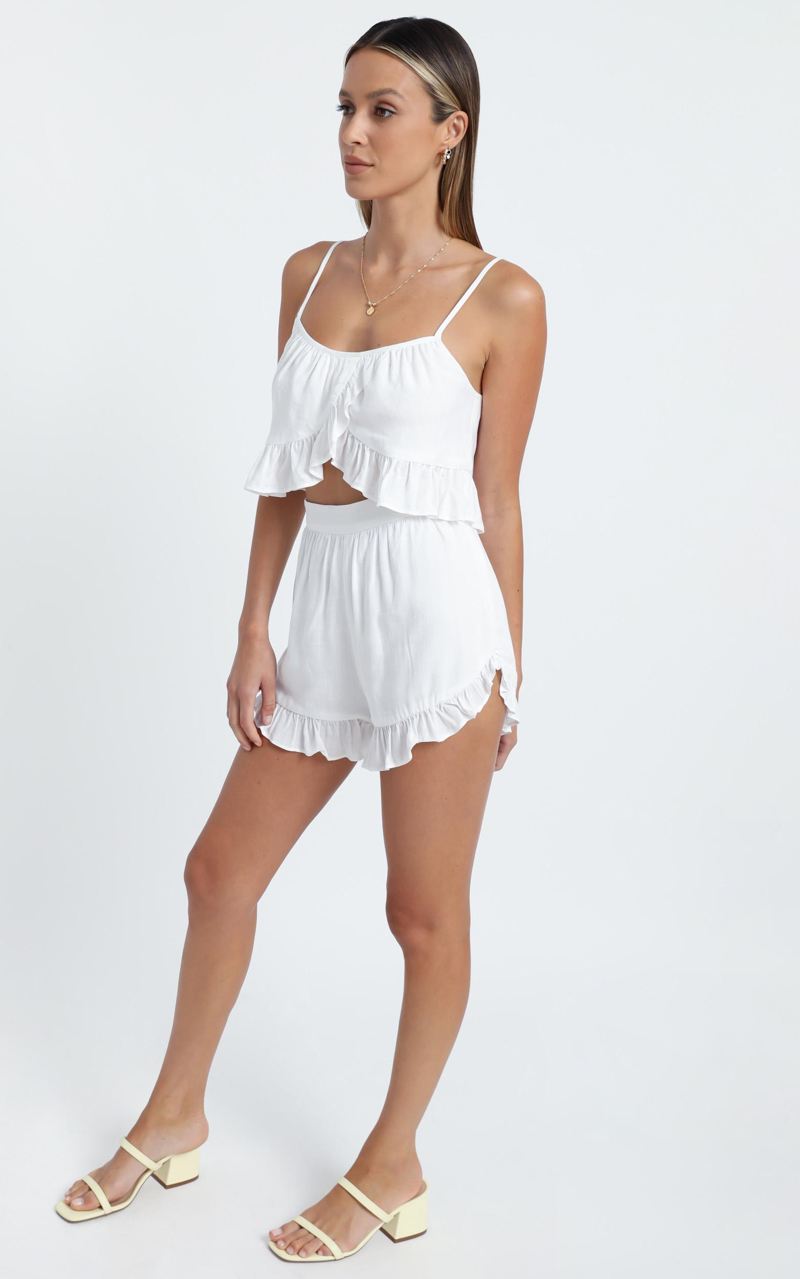 Samira Two Piece Set in White - 6 (XS), White, hi-res image number null