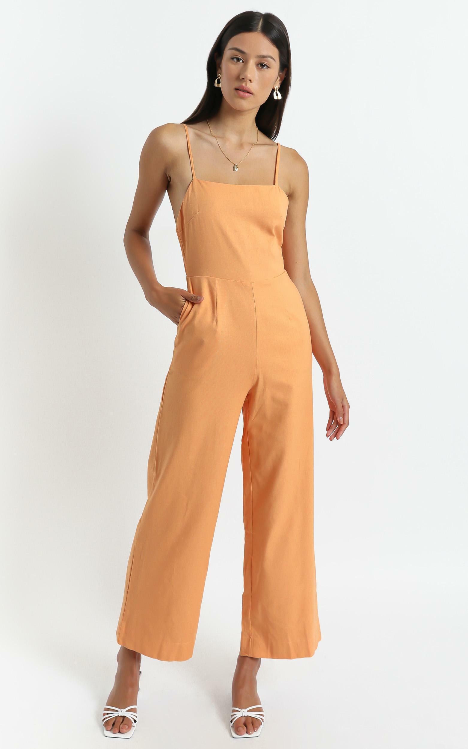 Camari Jumpsuit in Orange - 6 (XS), Orange, hi-res image number null