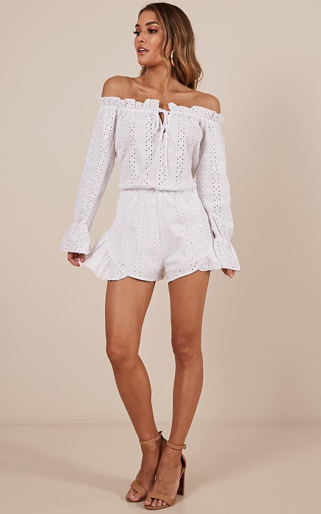 Honey Bee playsuit in white - 12 (L), White, hi-res image number null