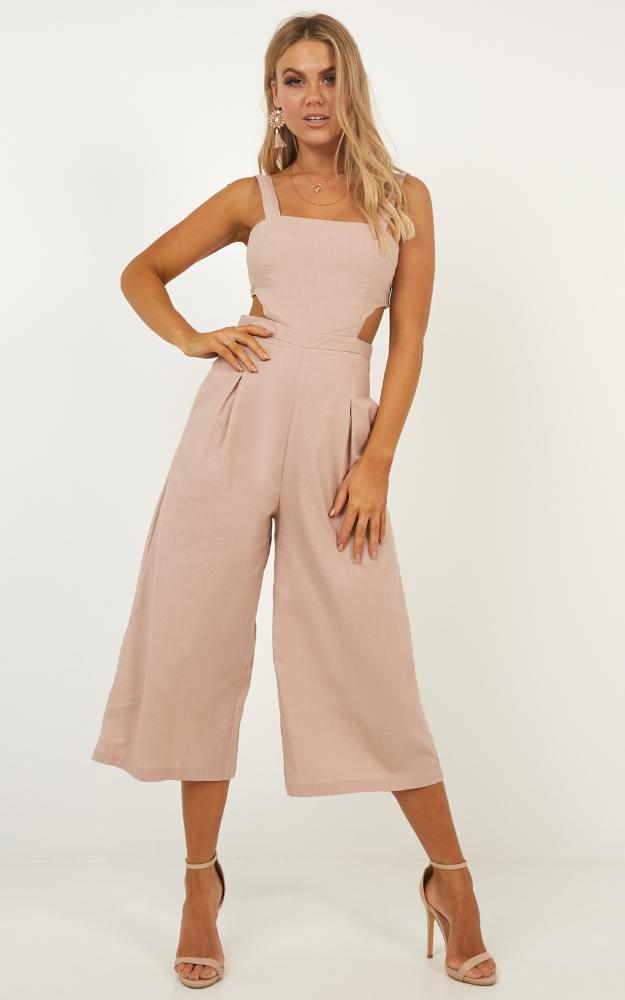 Street Smart jumpsuit in blush linen look, Blush, hi-res image number null