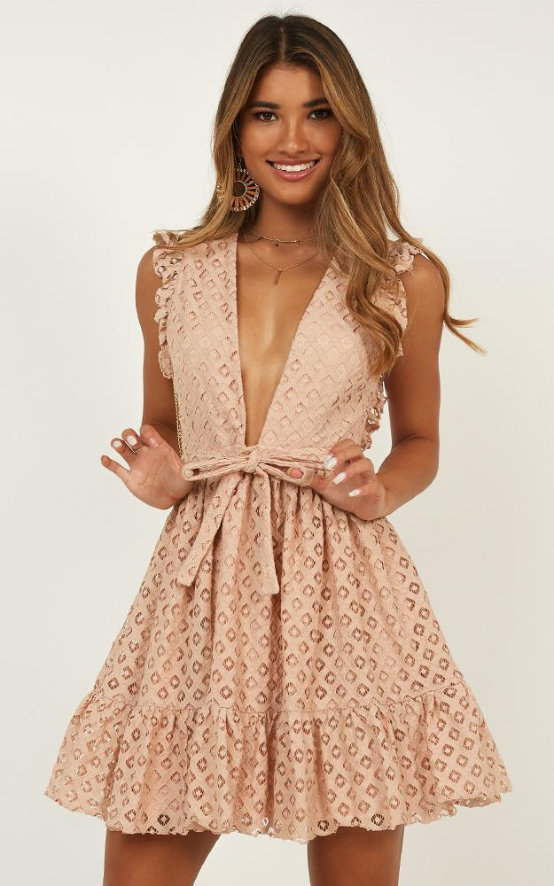Only Lovers Left Dress In blush lace - 20 (XXXXL), Blush, hi-res image number null