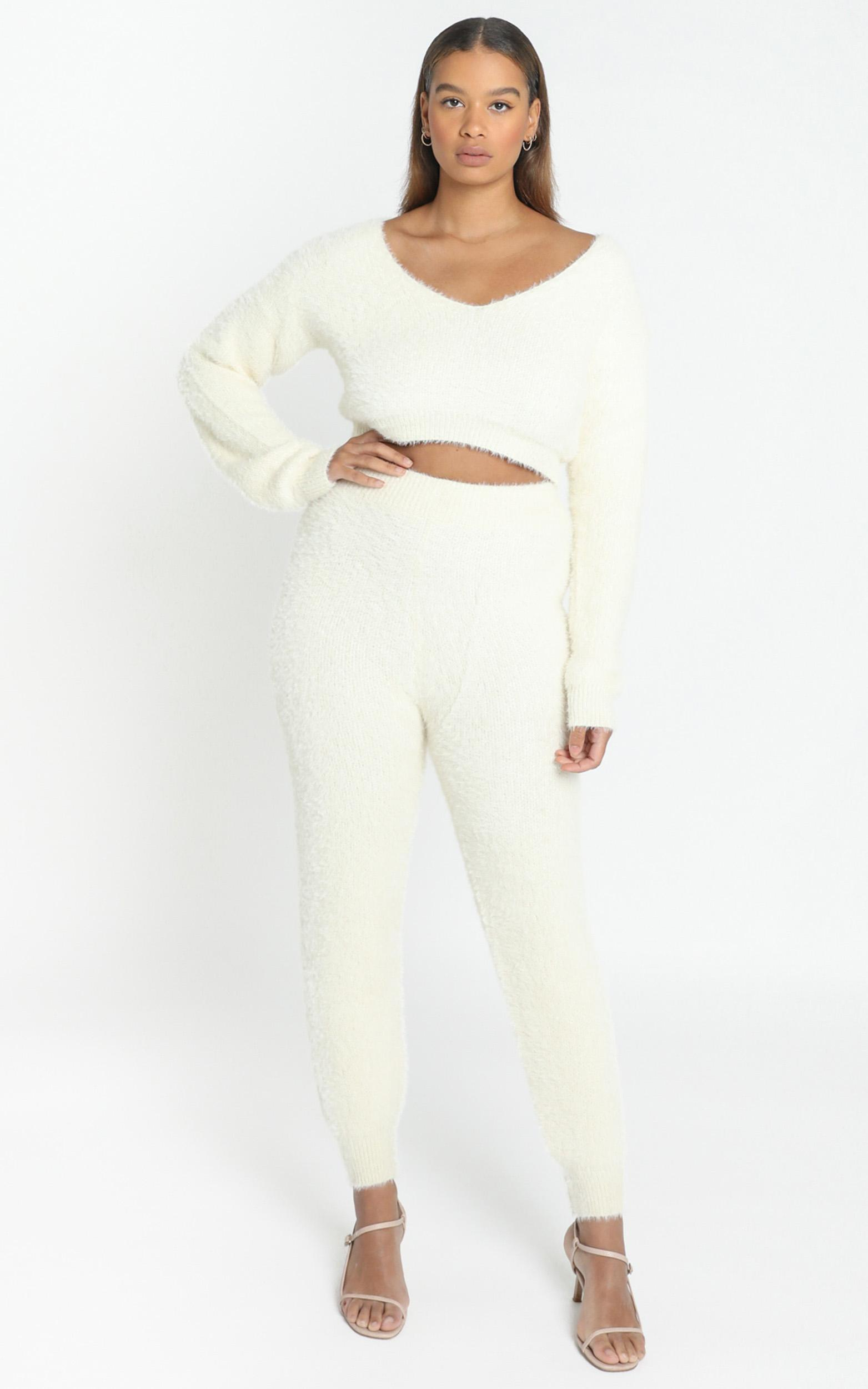 Carey Knit Pants in Cream - 8 (S), CRE1, hi-res image number null