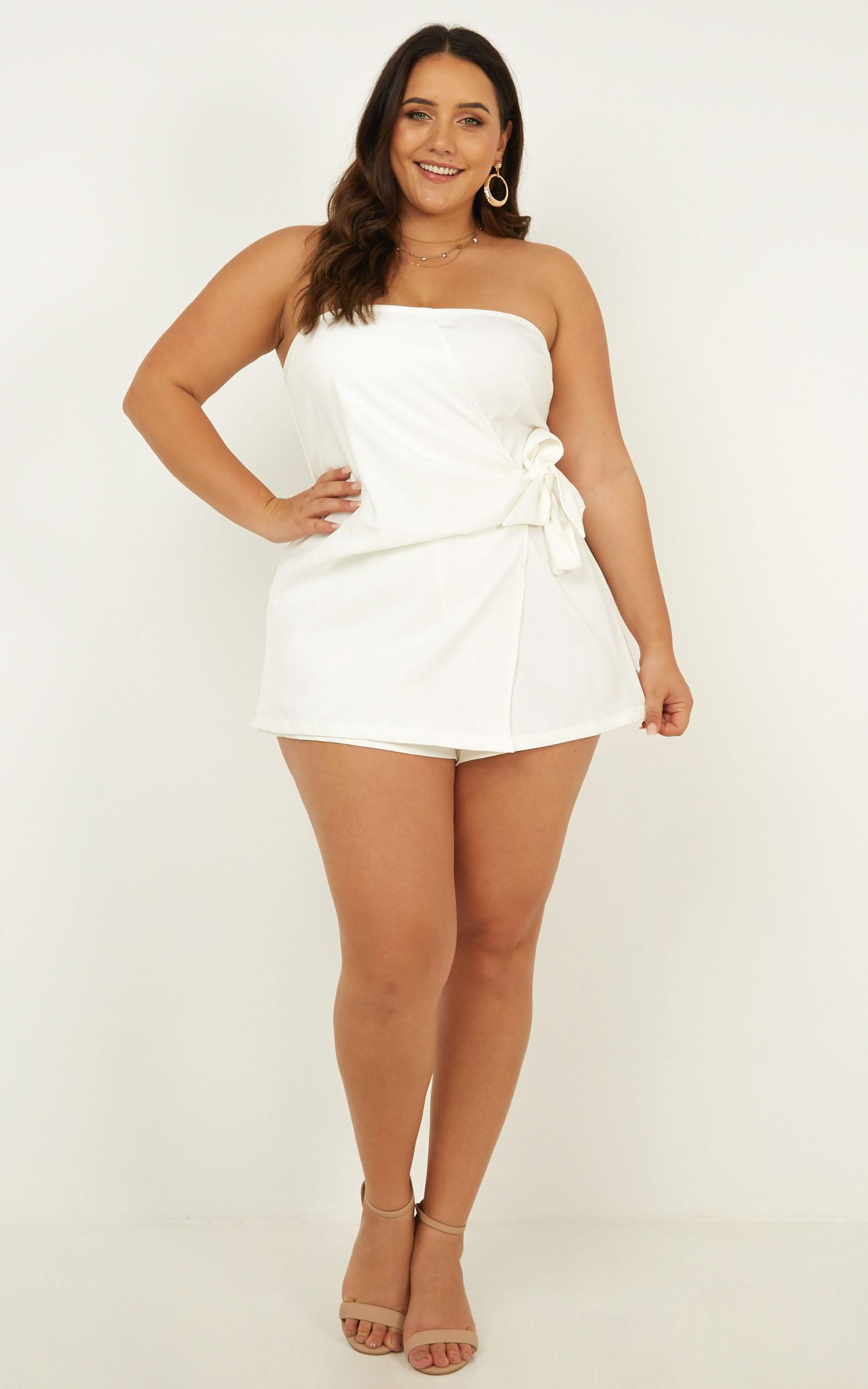 No Time Today Playsuit In white - 20 (XXXXL), White, hi-res image number null