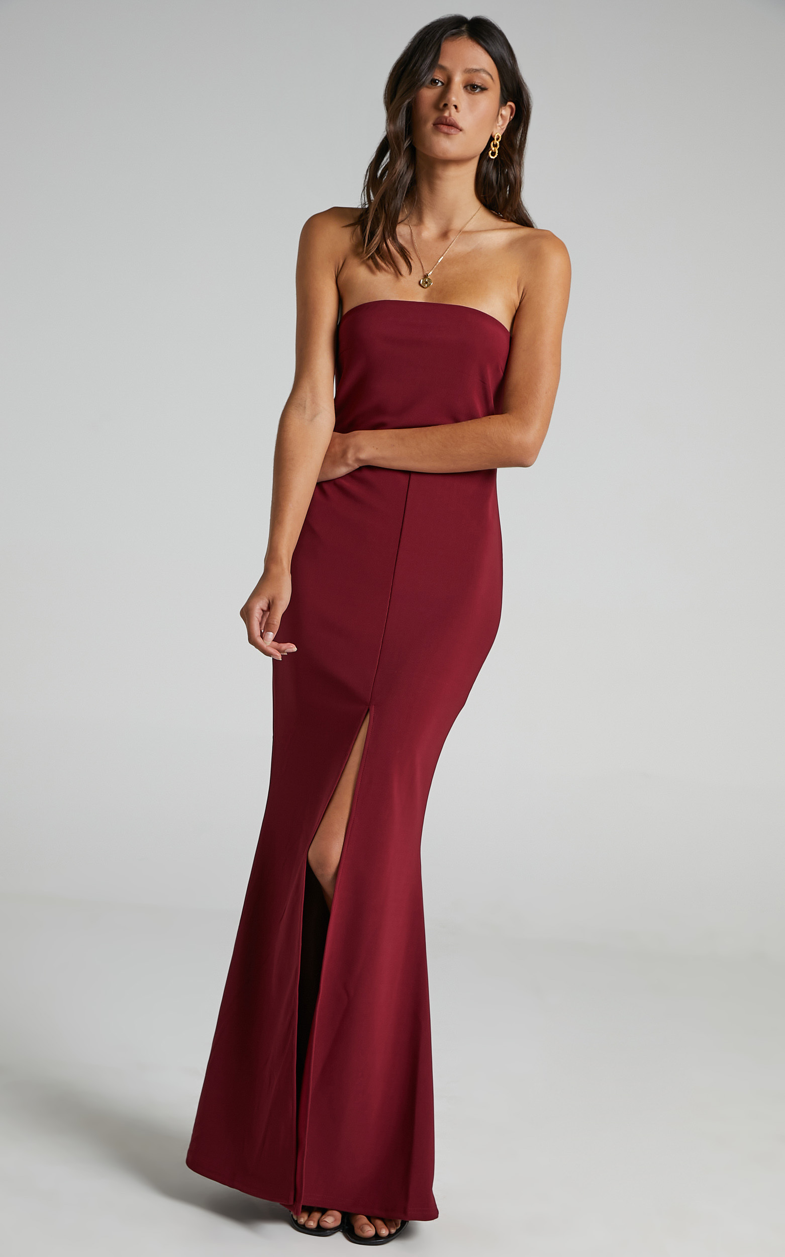 One More Kiss Maxi Dress in Wine - 20, WNE2, hi-res image number null