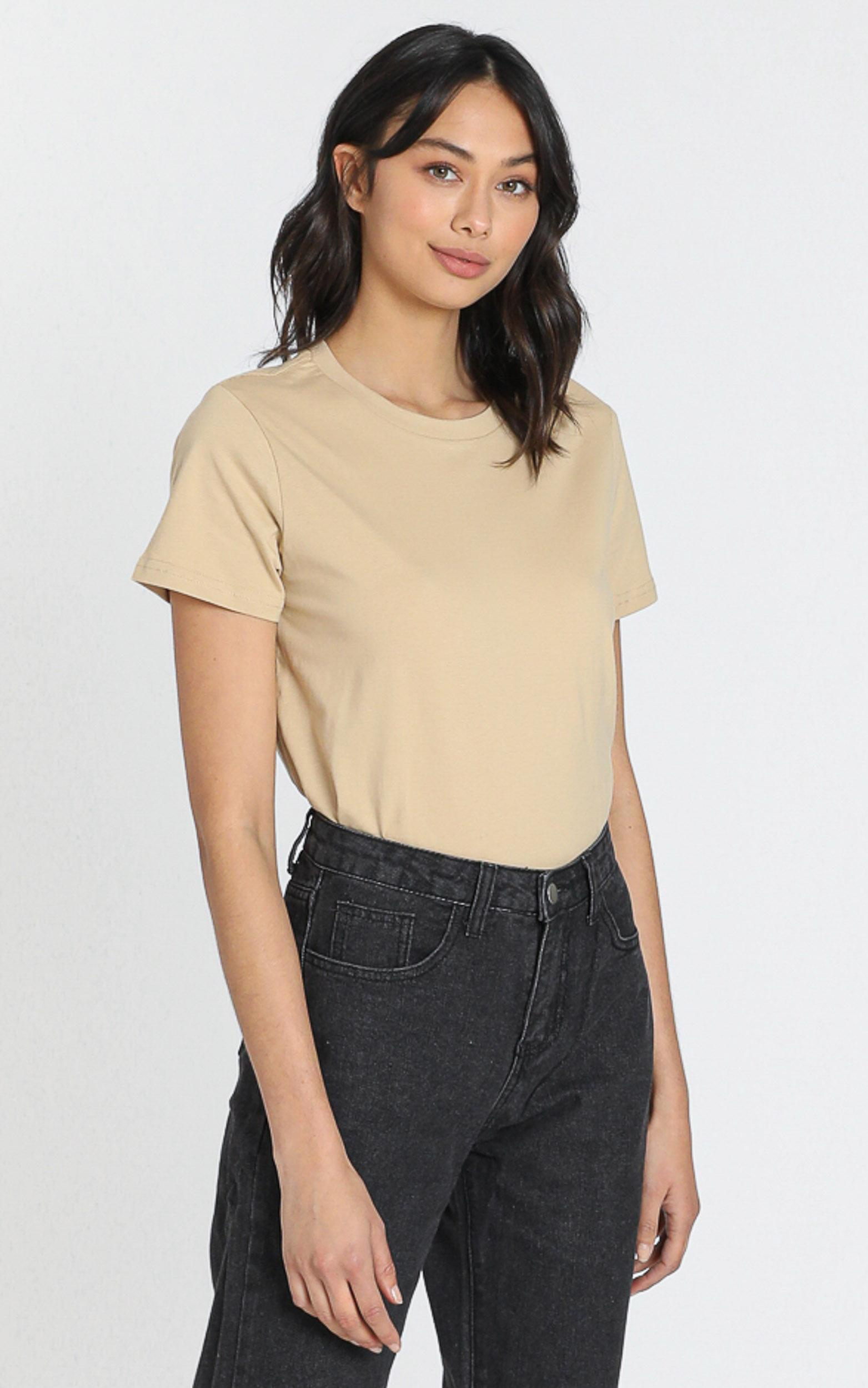 AS Colour - Maple Tee in Tan - 6 (XS), Tan, hi-res image number null