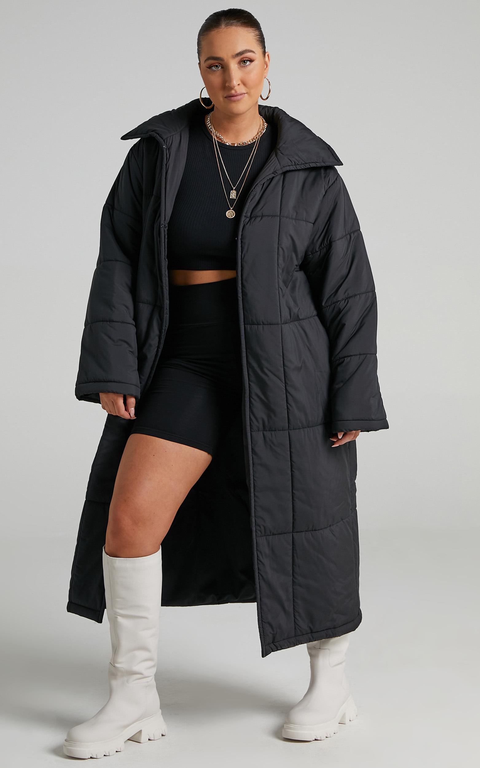 Shellie Puffer Coat in Black - 06, BLK1, hi-res image number null