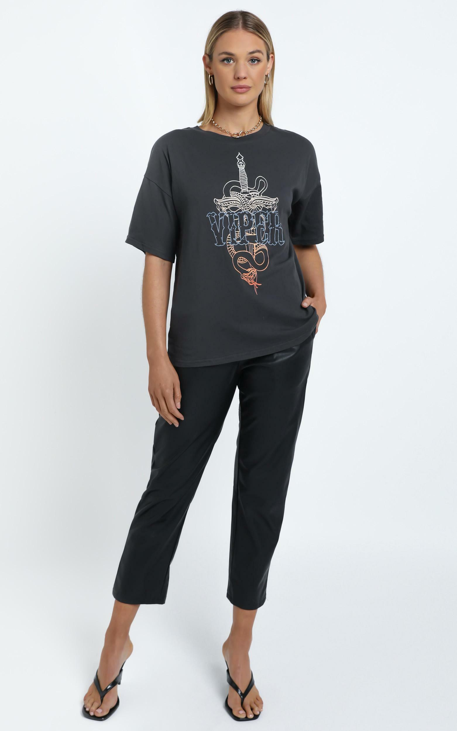 Twiin - Pick Your Poison Tee in Multi - 12 (L), BLK1, hi-res image number null