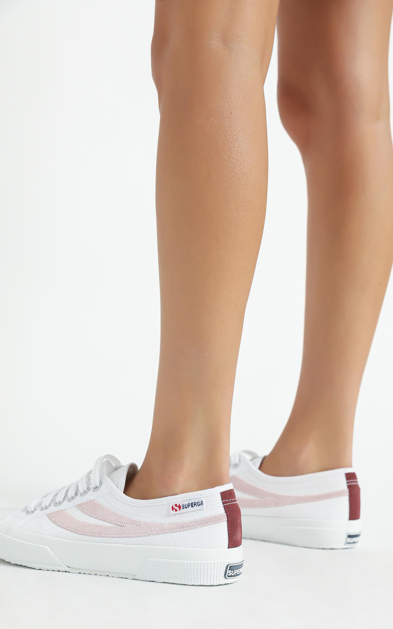 Superga - 2953 Swallowtail Cotu Sneaker in white - pink pale lilac - 5, Pink, hi-res image number null