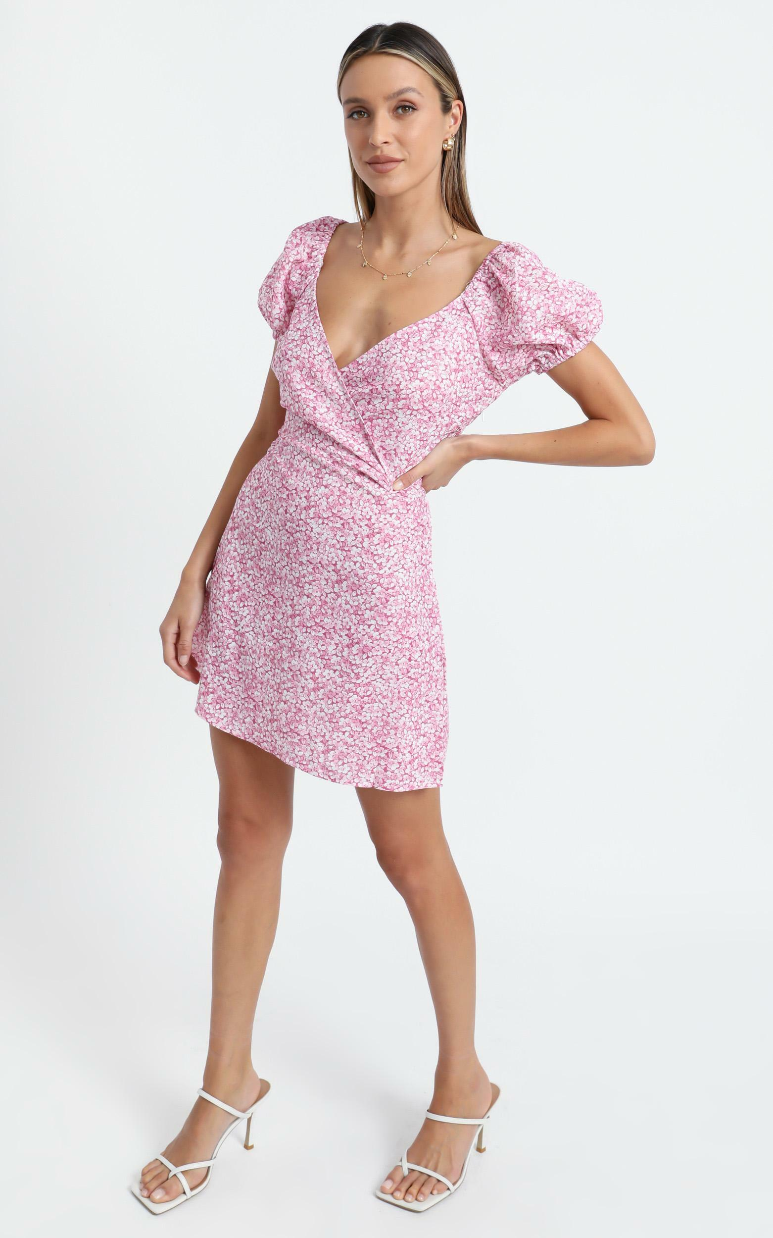 Maisie Dress in Pink Floral - 8 (S), Pink, hi-res image number null