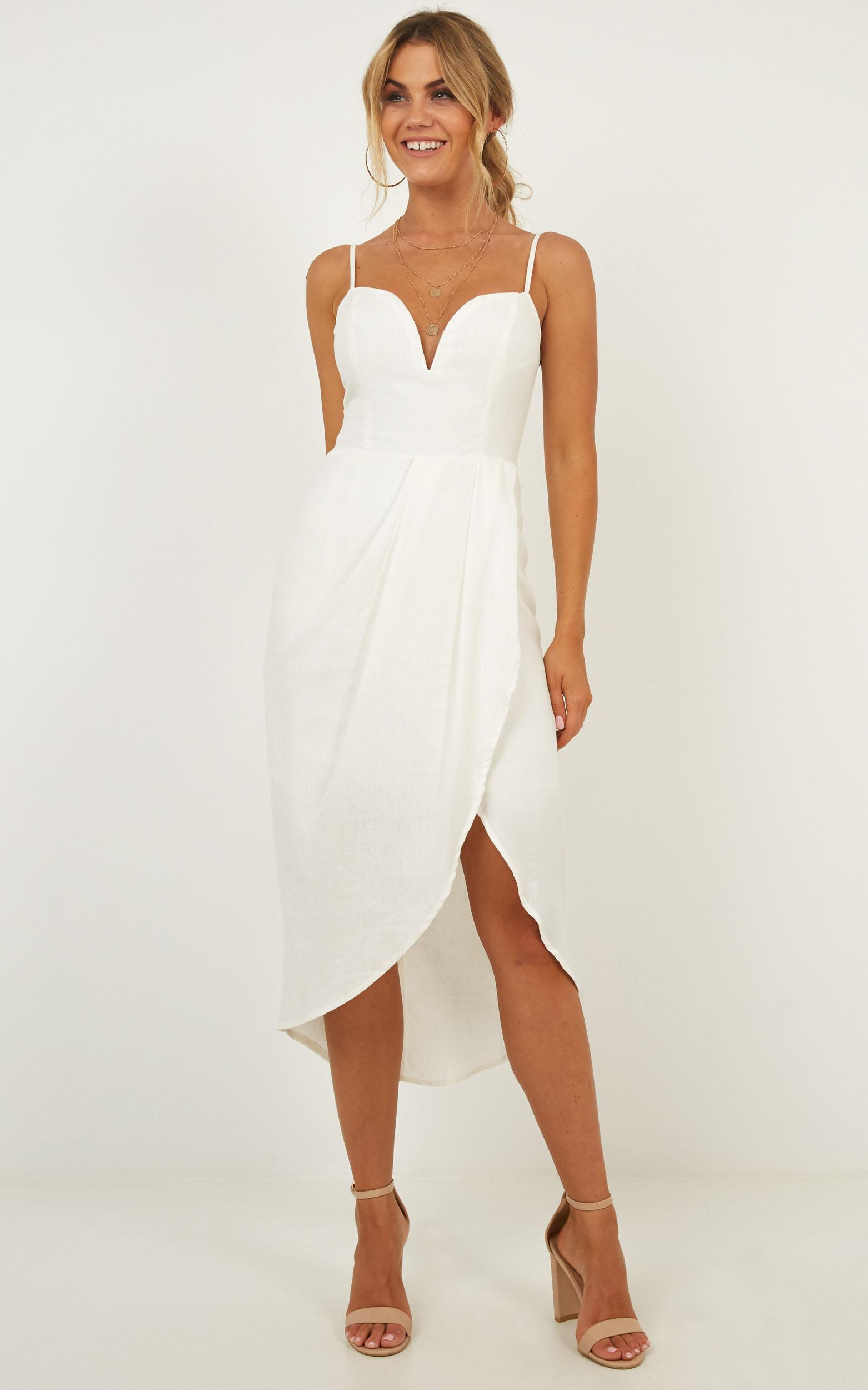 Darling Listen Dress In white - 12 (L), White, hi-res image number null