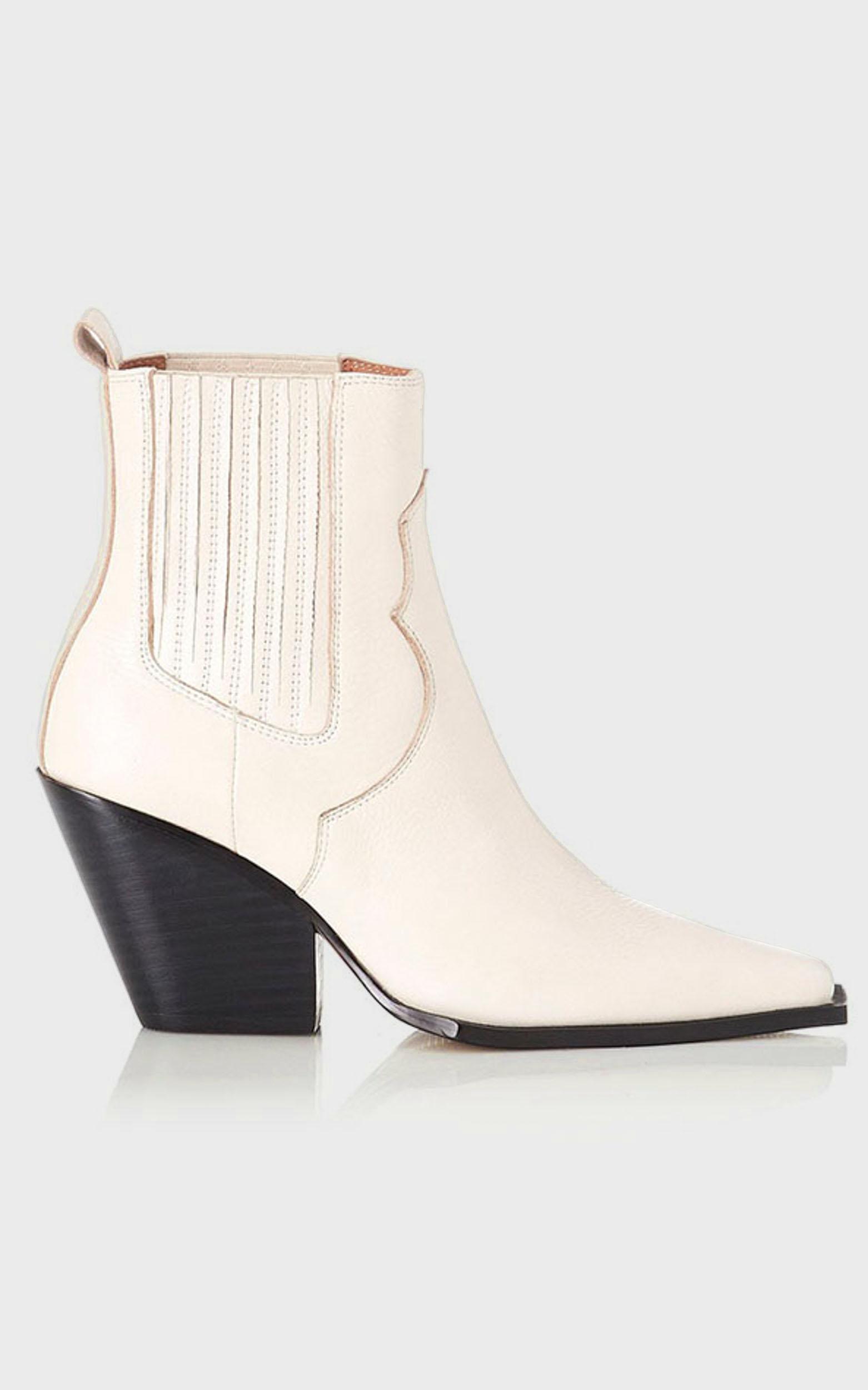 Alias Mae - Belle Boots in Bone Leather - 5.5, Cream, hi-res image number null