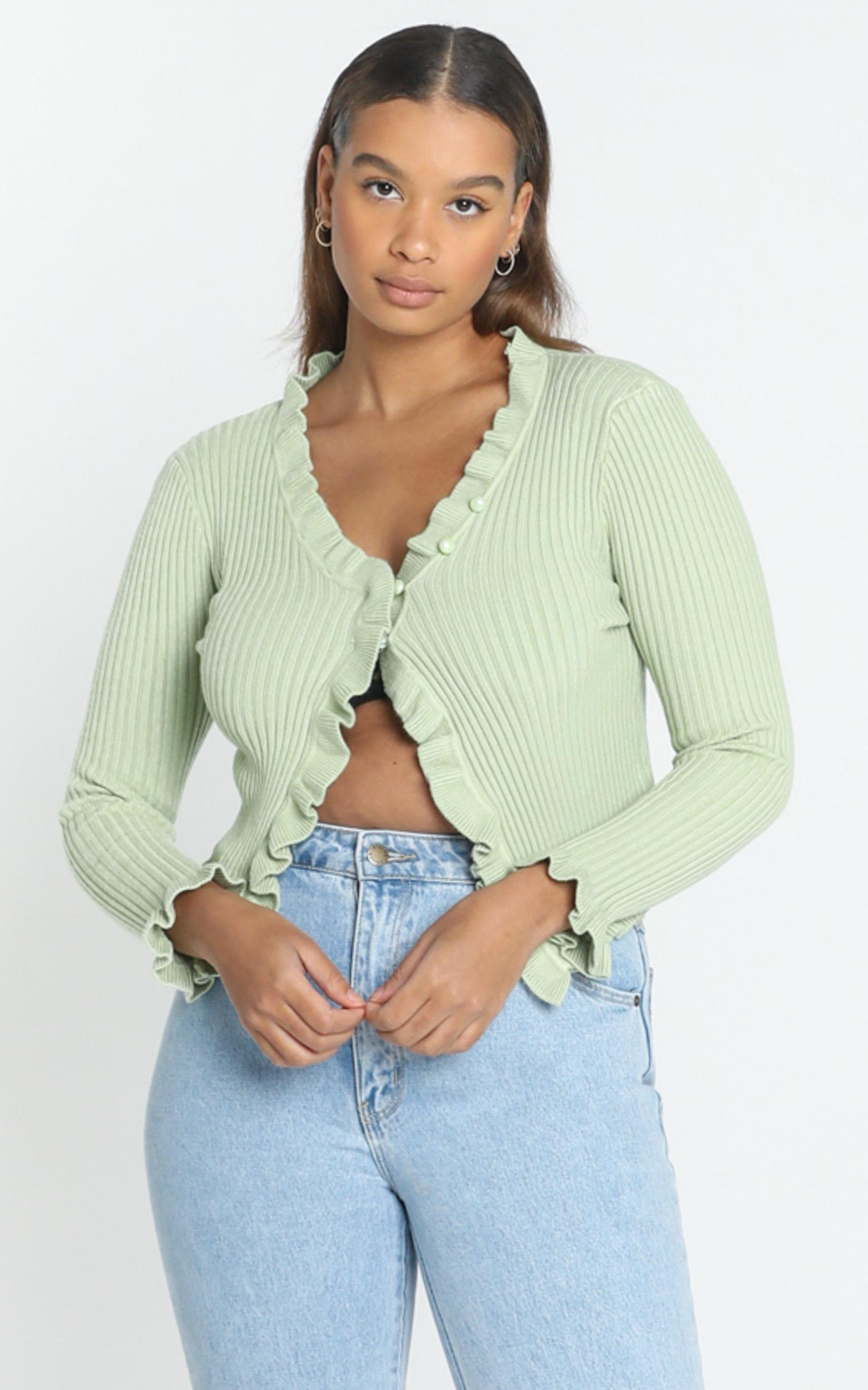Broden Knit Top in Green - 12 (L), Green, hi-res image number null