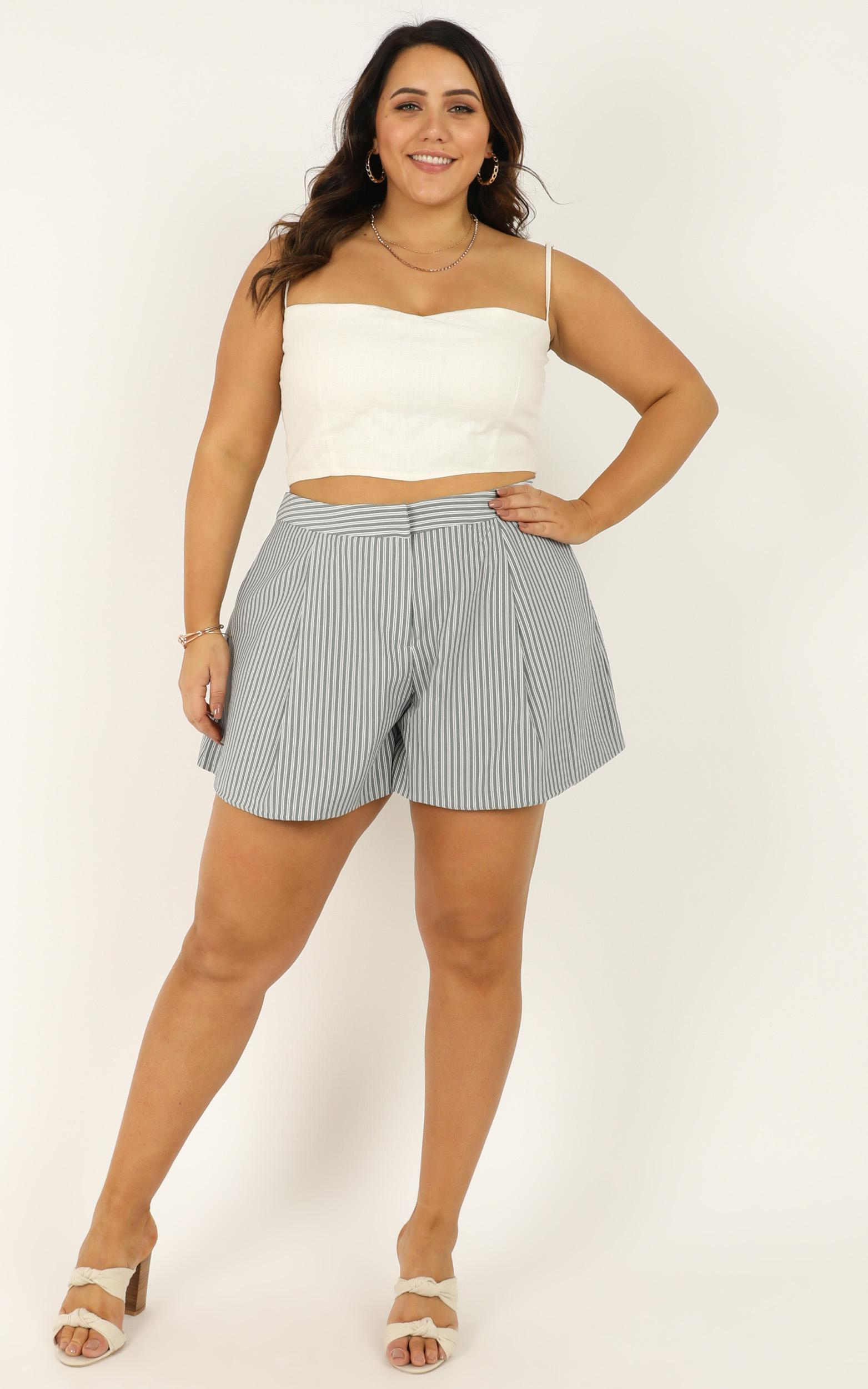 You Took A Swing Shorts In blue stripe - 18 (XXXL), Blue, hi-res image number null
