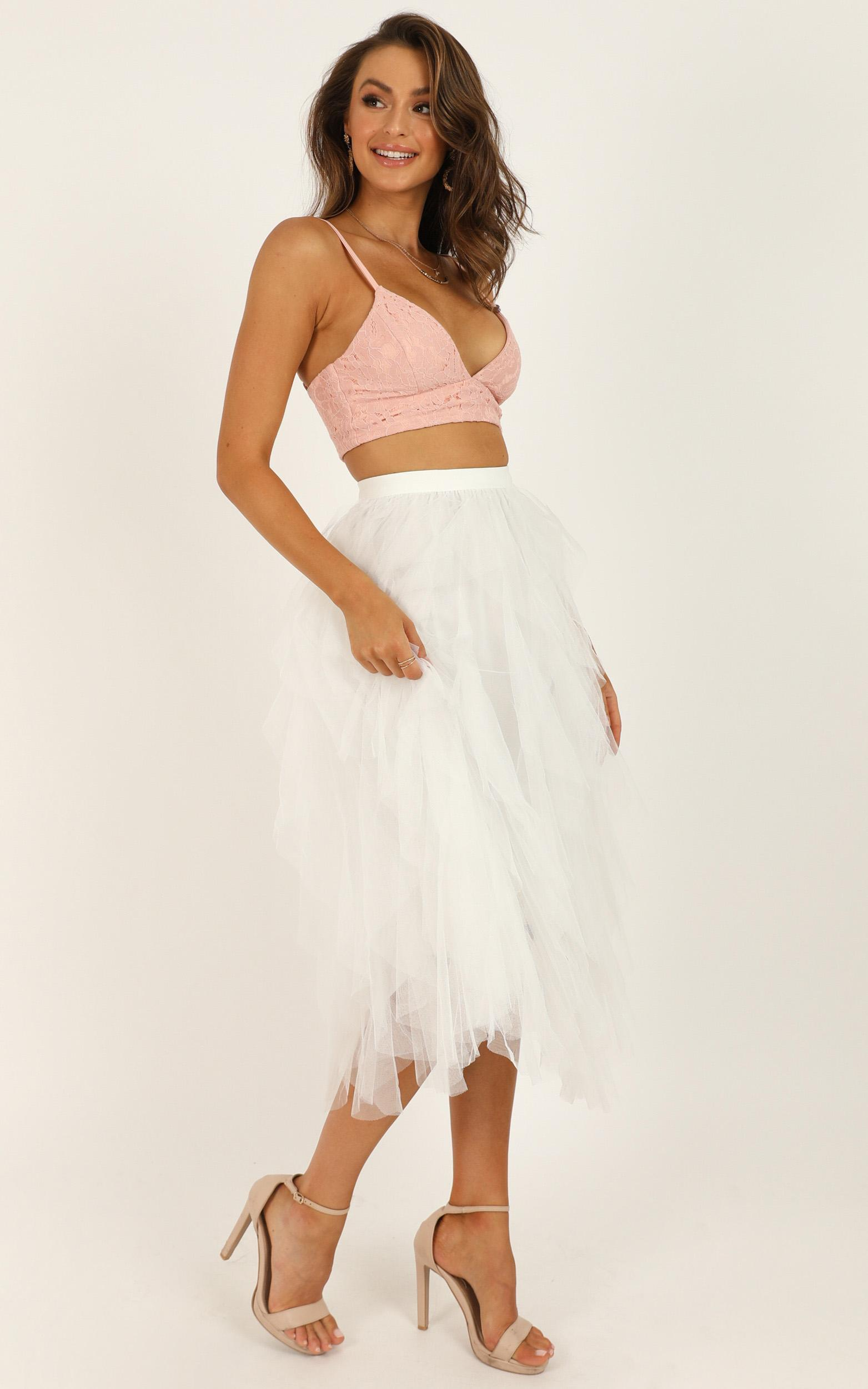 Out Of The Conversation Skirt In white - M/L, White, hi-res image number null