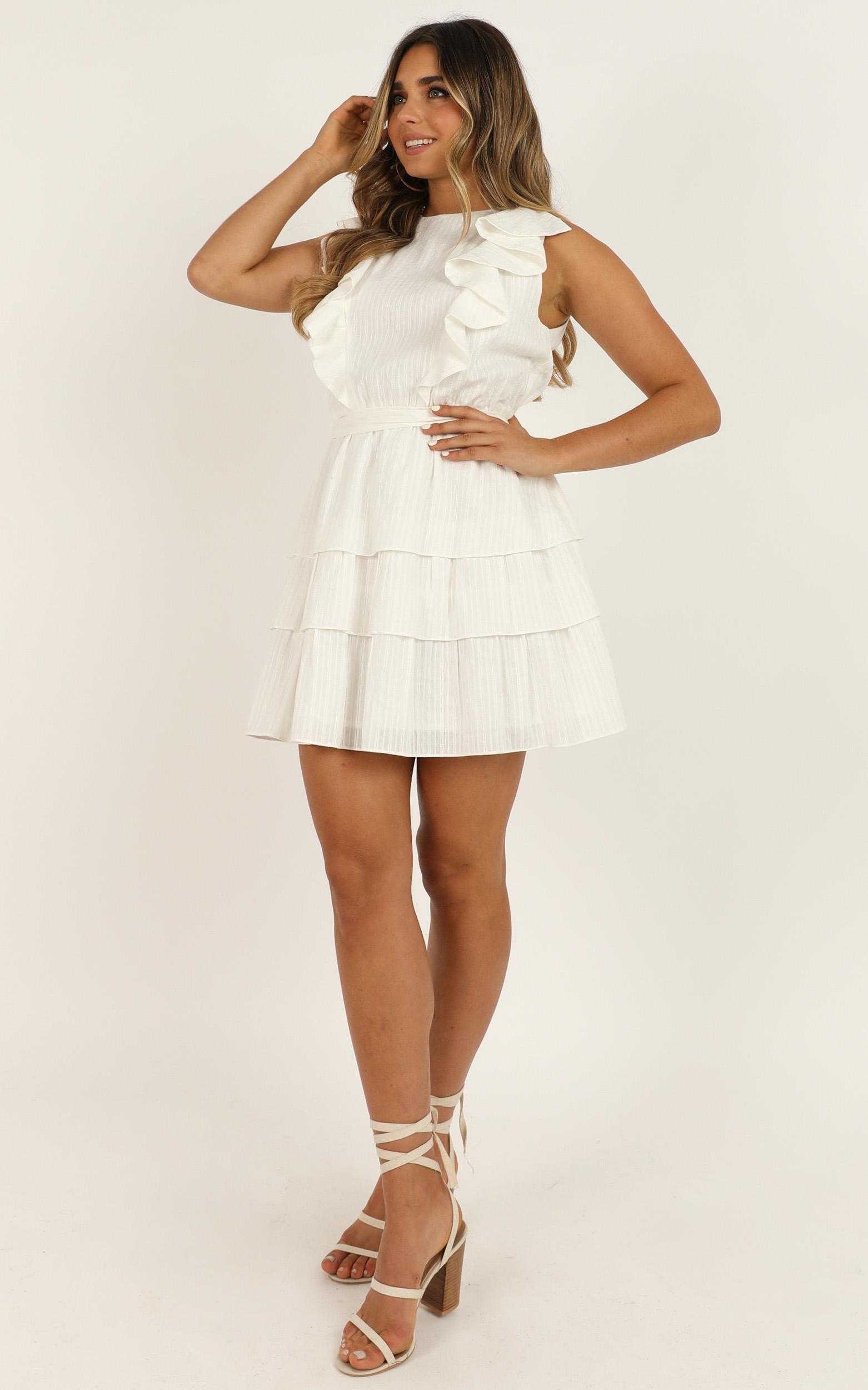 Sunset Beach Walk dress in white - 16 (XXL), White, hi-res image number null