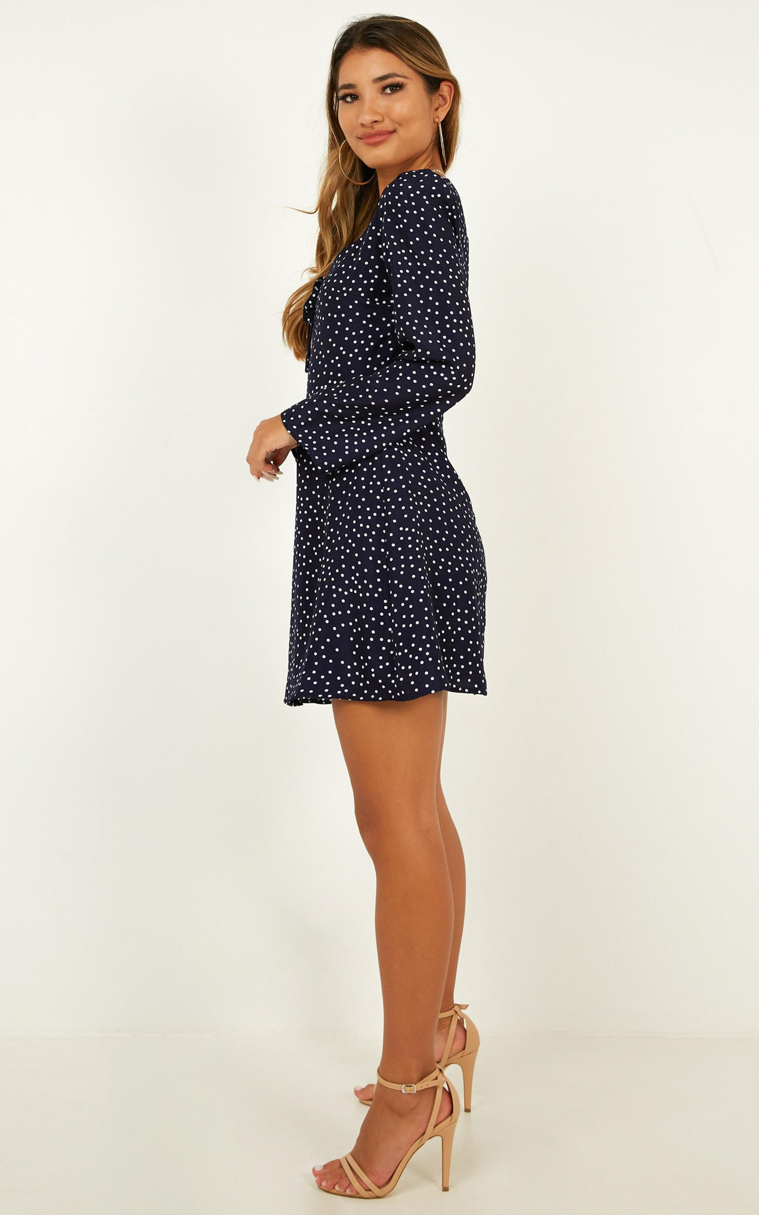 Get The Point dress in navy spot - 20 (XXXXL), Navy, hi-res image number null