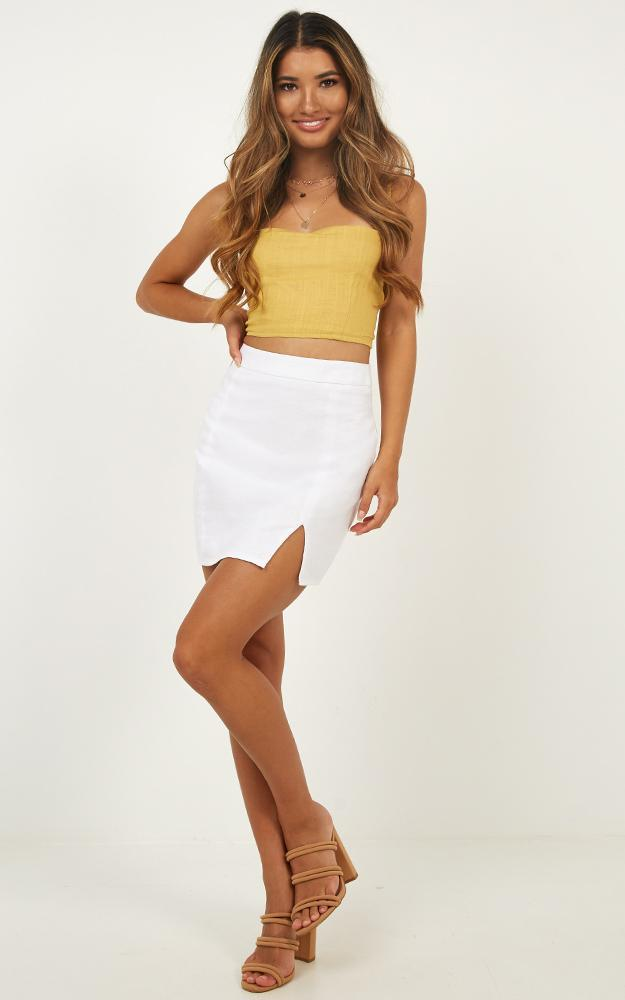 International Babe Skirt In White Linen Look - 20 (XXXXL), White, hi-res image number null