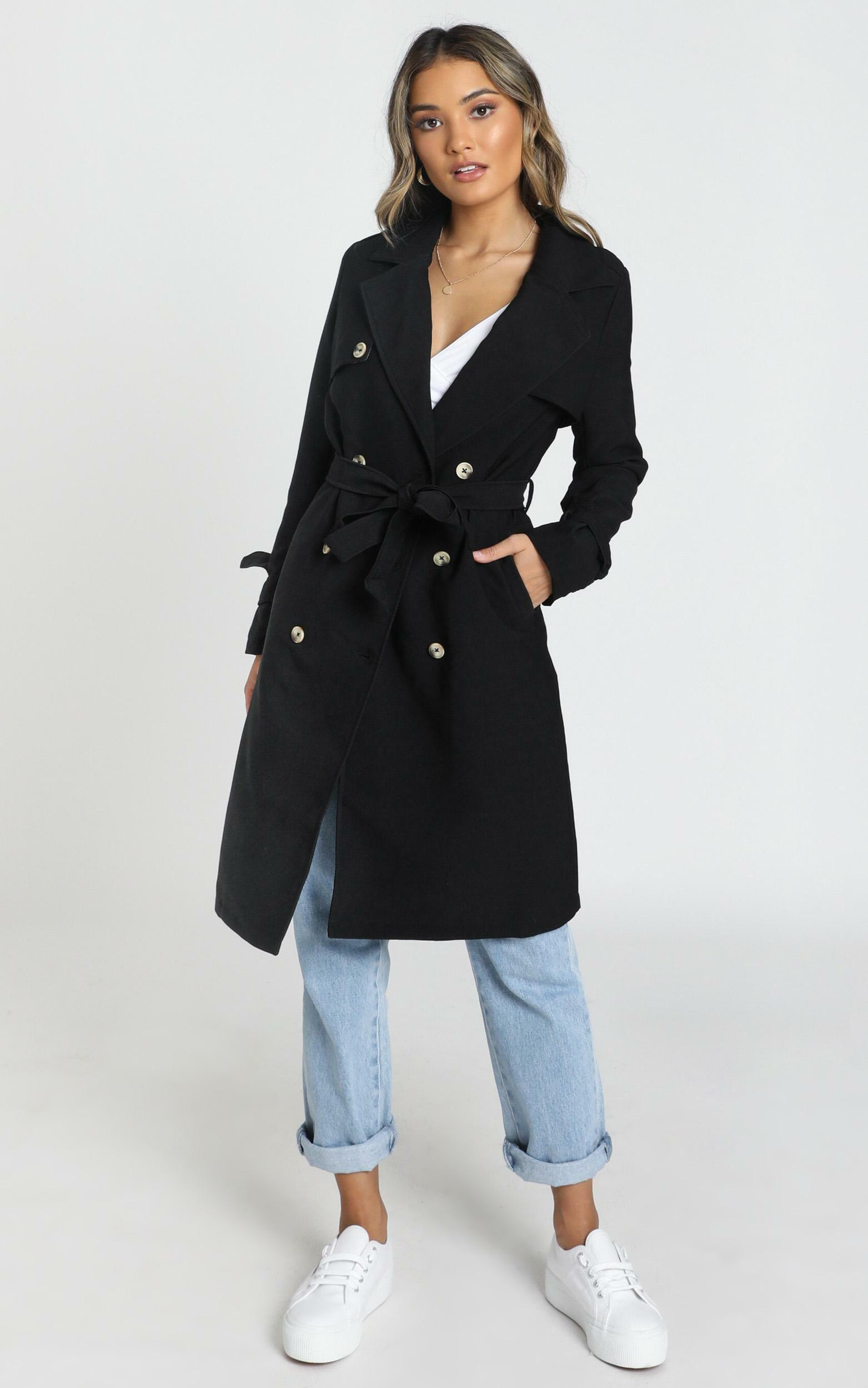 Coolest Girl Trench Coat in black - 4 (XXS), Black, hi-res image number null