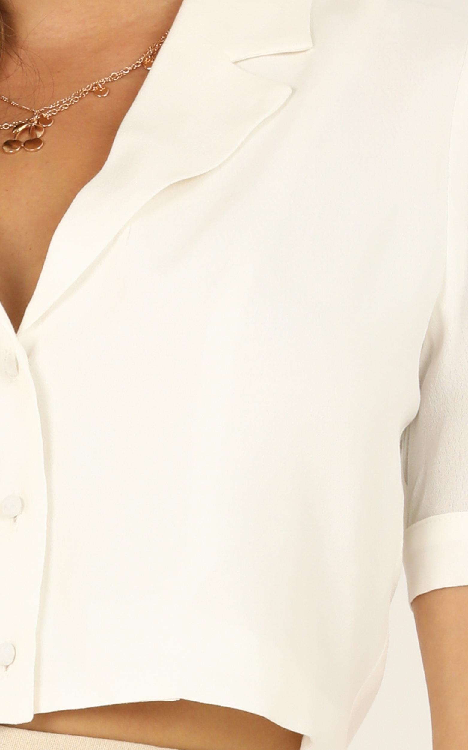 Like A Heartbeat Top in white - 20 (XXXXL), White, hi-res image number null