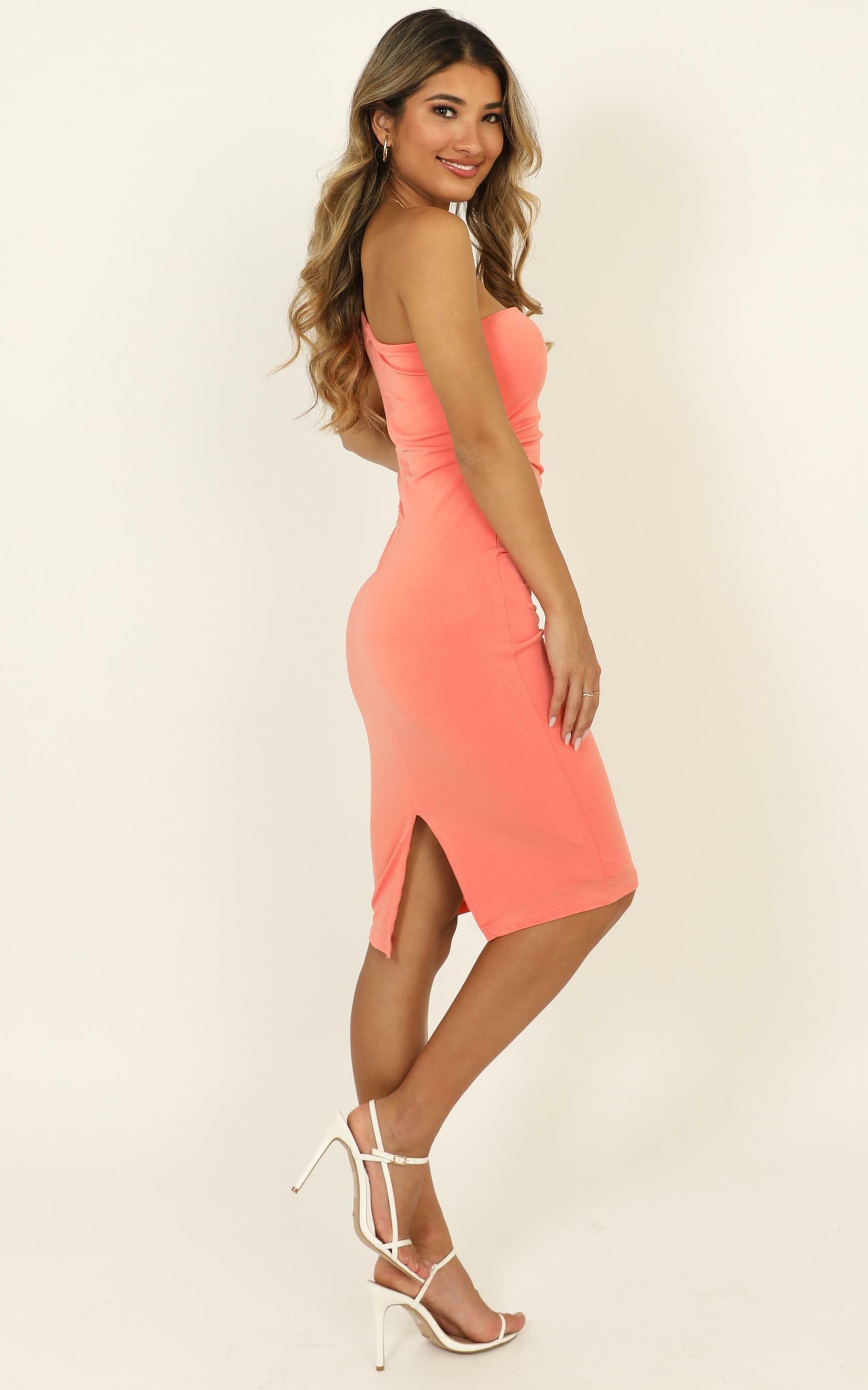 Got Me Looking Dress in apricot - 14 (XL), Orange, hi-res image number null