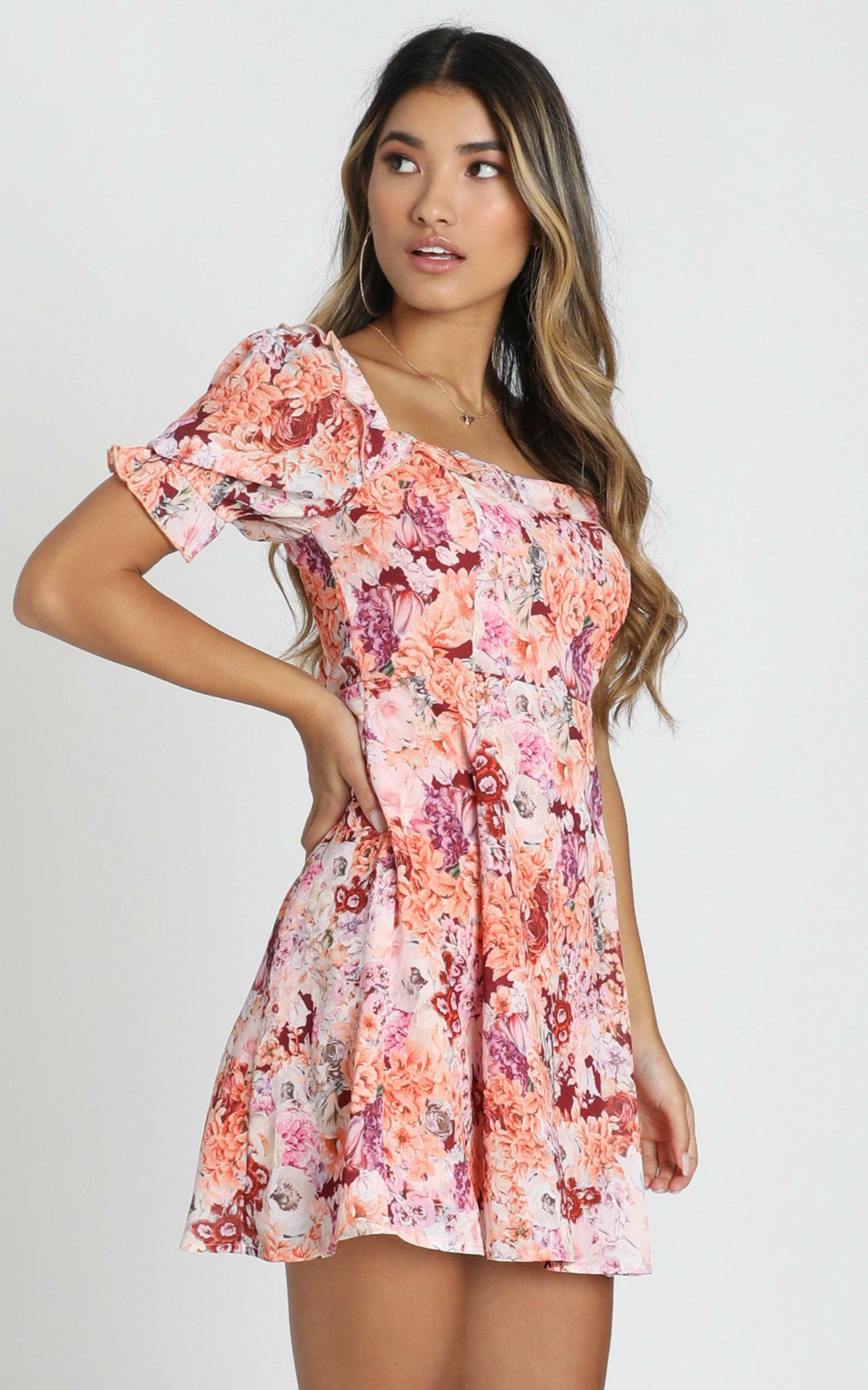 Fairy Floss Dress in tangerine floral - 20 (XXXXL), Orange, hi-res image number null