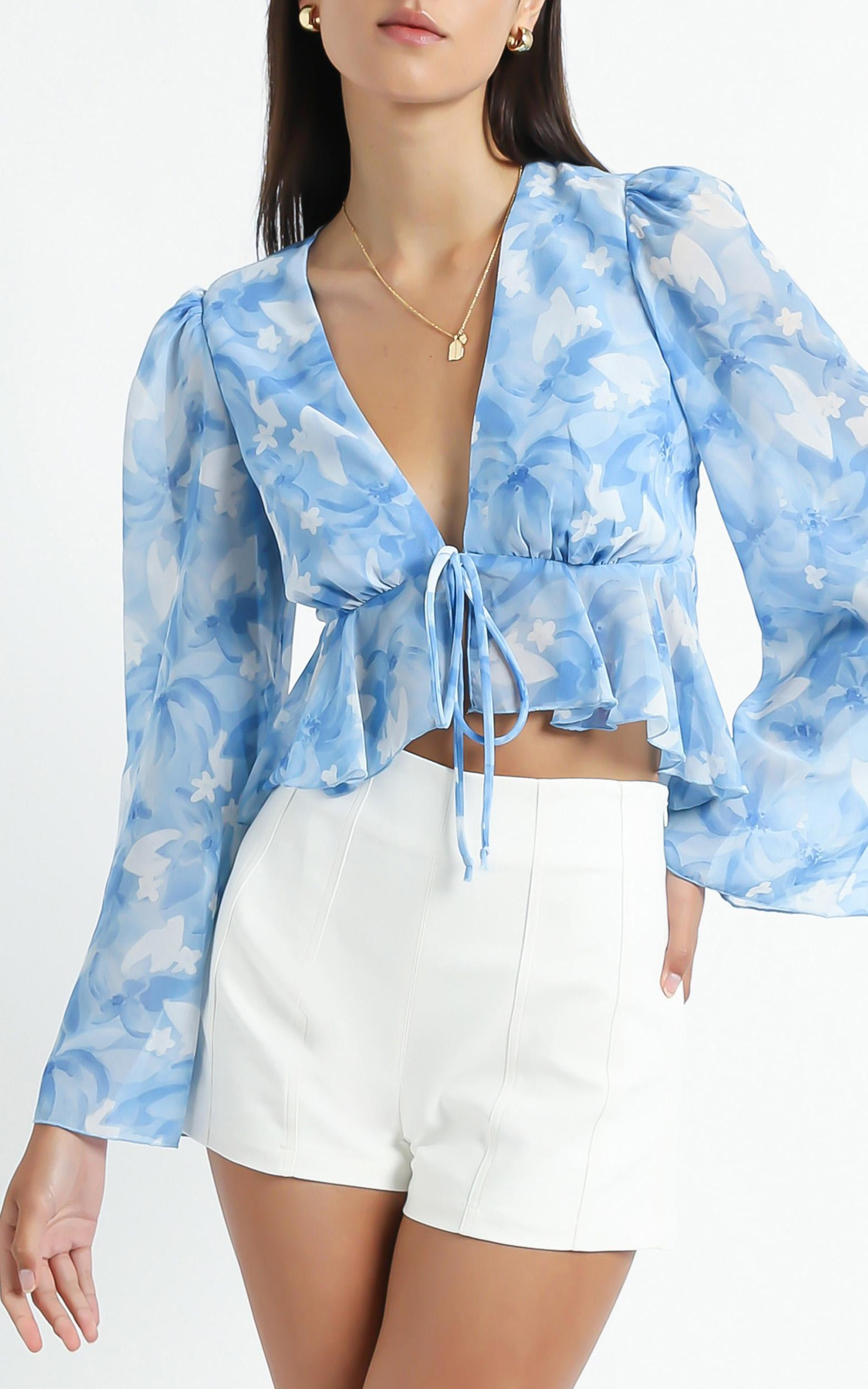 Dance It Out Top in Cloudy Floral - 6 (XS), BLU2, hi-res image number null