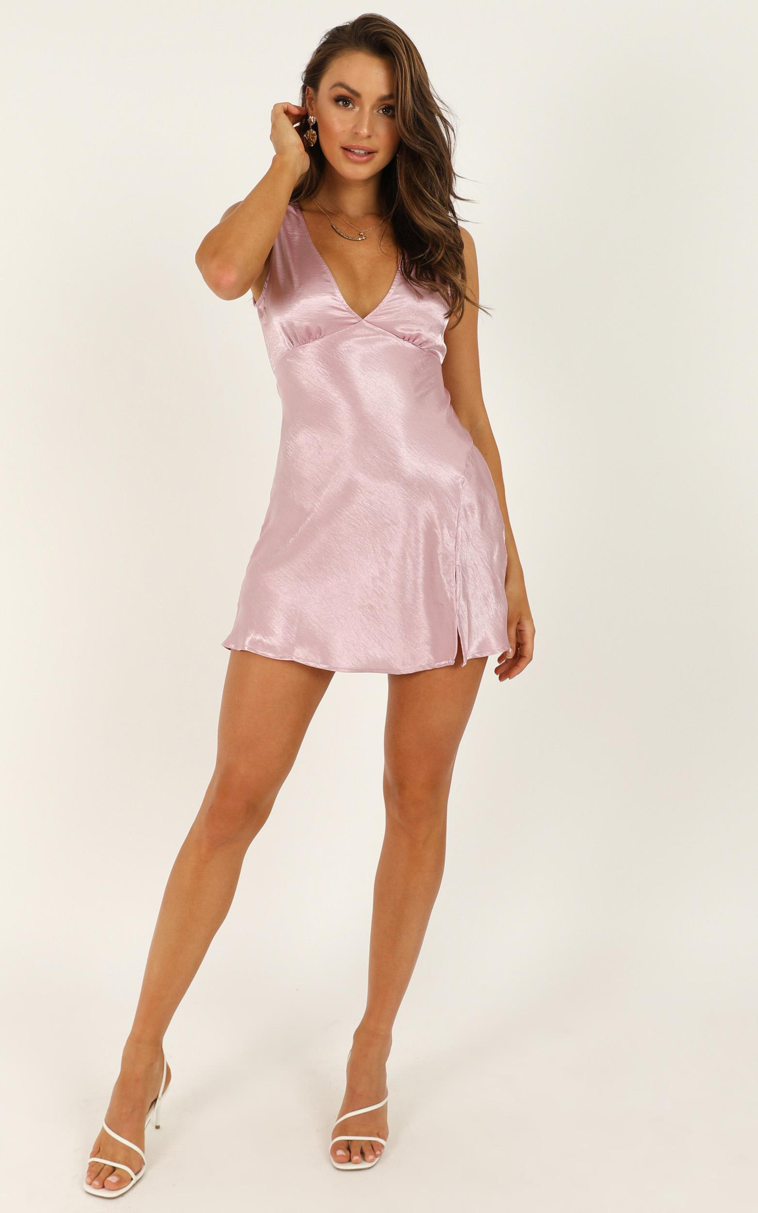 Final Move dress in blush satin - 12 (L), Blush, hi-res image number null