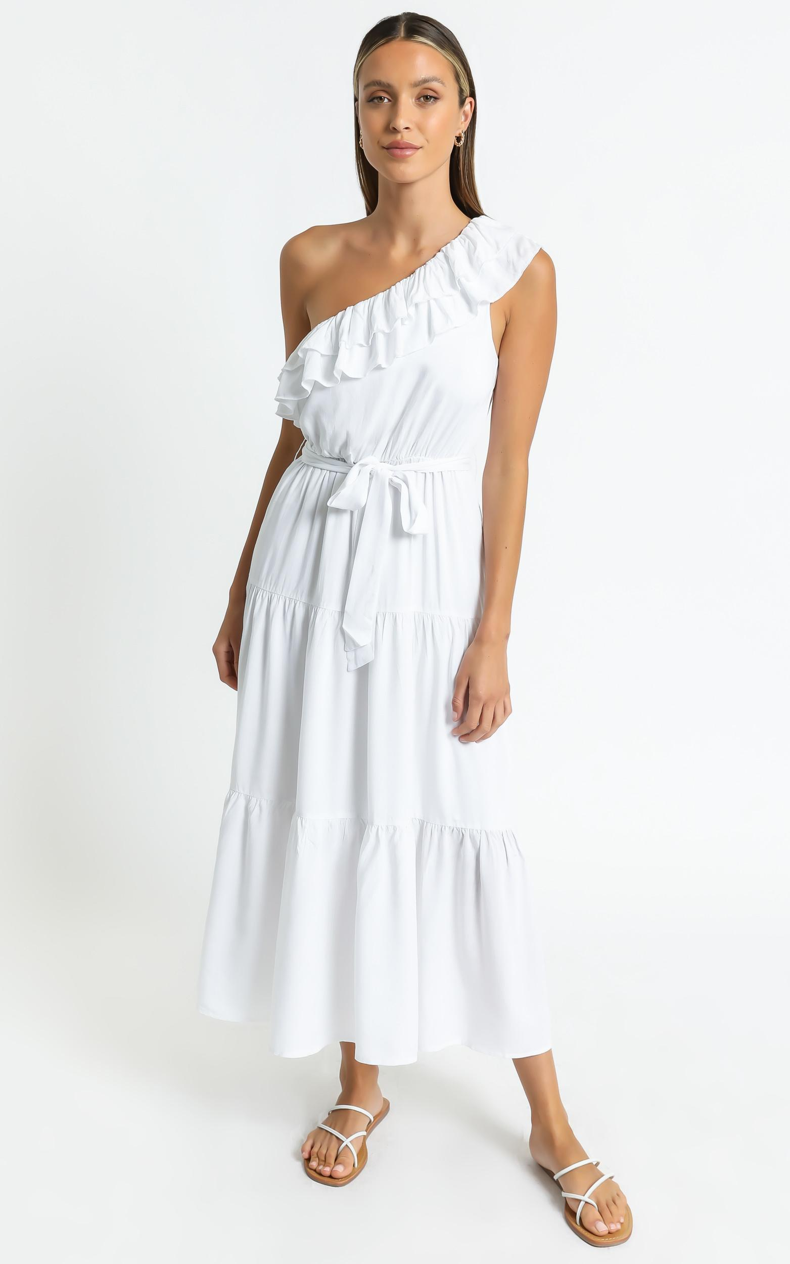 Mimosa Dress in White - 6 (XS), White, hi-res image number null
