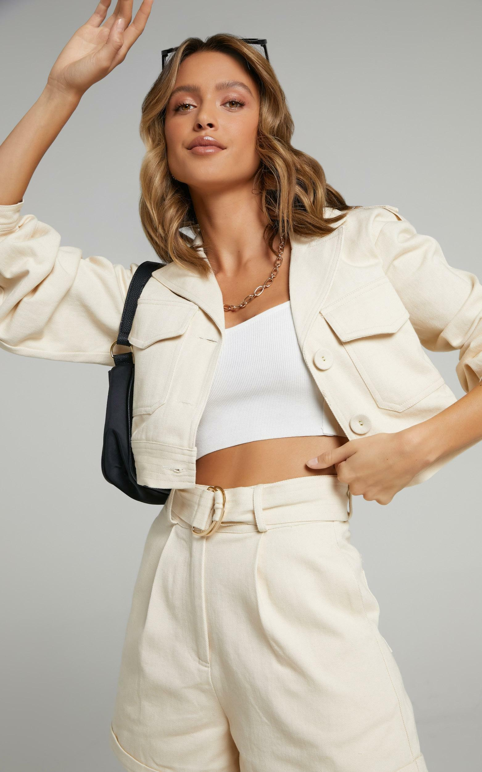 Charlie Holiday - Frankie Jacket in Oyster - XS, Cream, hi-res image number null