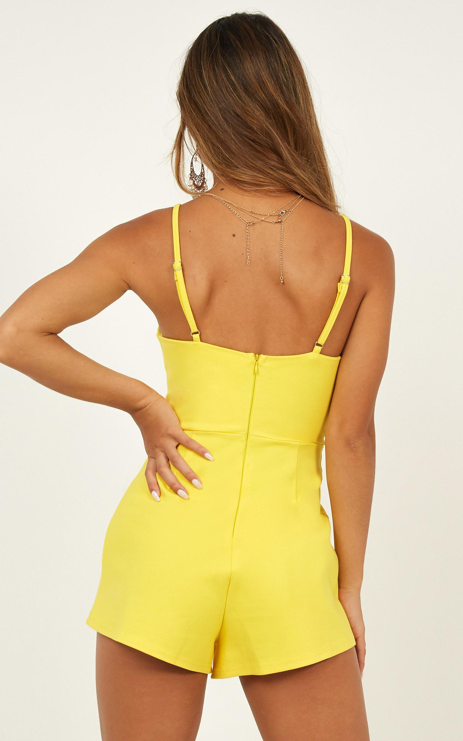 The Only Exception Playsuit in mango - 20 (XXXXL), Yellow, hi-res image number null