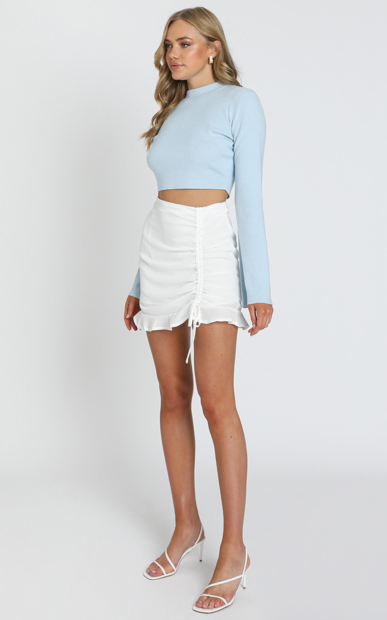 Dreamy Day Gathered Skirt in white - 6 (XS), White, hi-res image number null