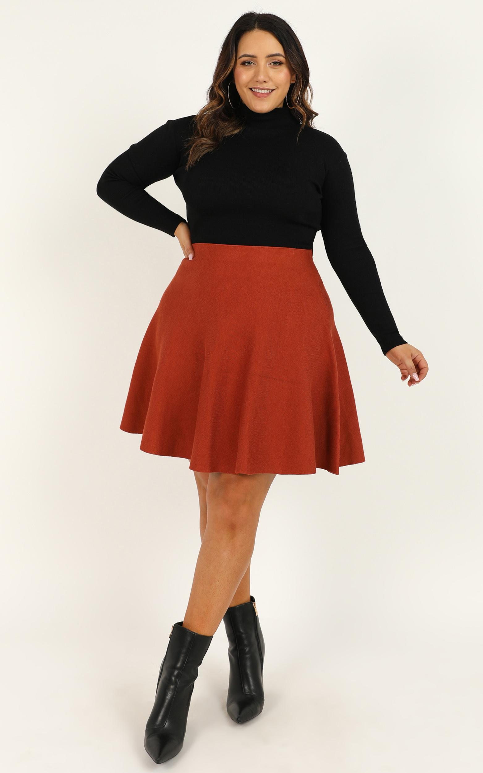 Real Deal Skirt In rust - 20 (XXXXL), Rust, hi-res image number null