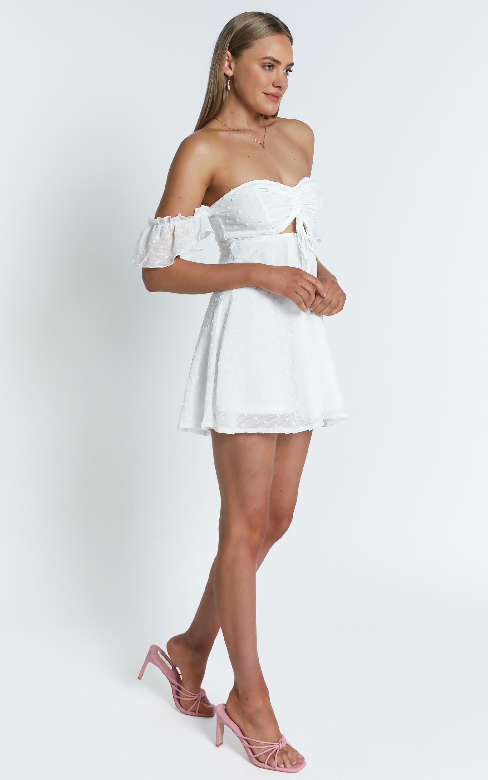 Take Flight Dress in white dot - 20 (XXXXL), White, hi-res image number null