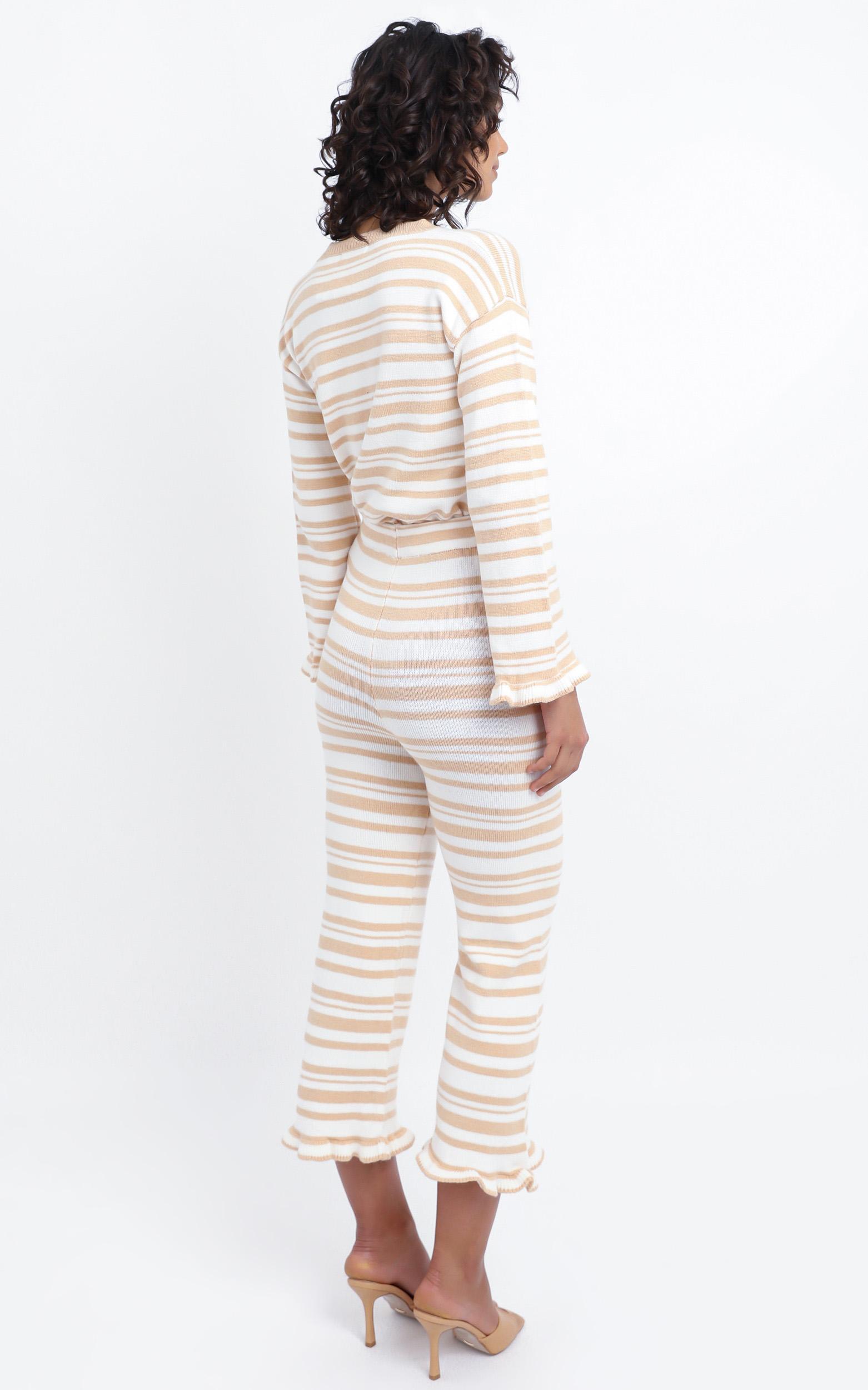 Denisa Pants in Peach Stripe - XS/S, Beige, hi-res image number null