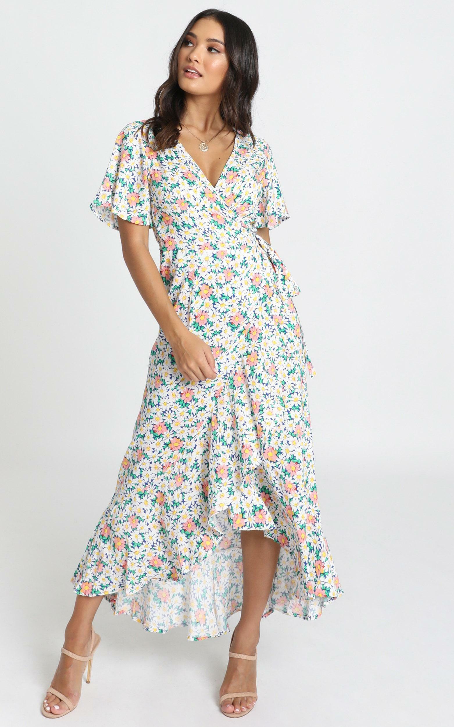 Lavish Life Dress in multi floral - 6 (XS), Green, hi-res image number null