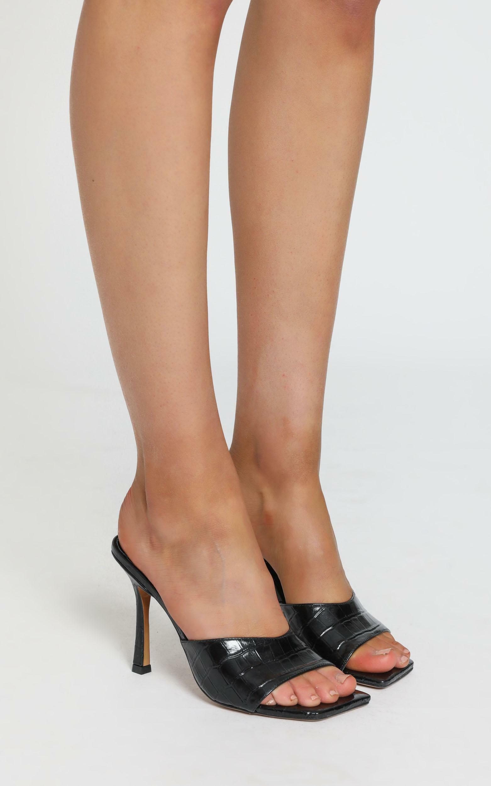 Tony Bianco - Bosco Heels in black croc - 5, Black, hi-res image number null