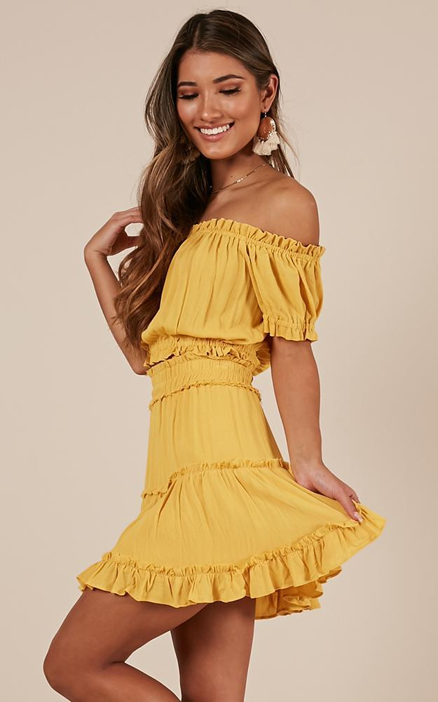 Nobody But You Two Piece Set in mango - 20 (XXXXL), Yellow, hi-res image number null