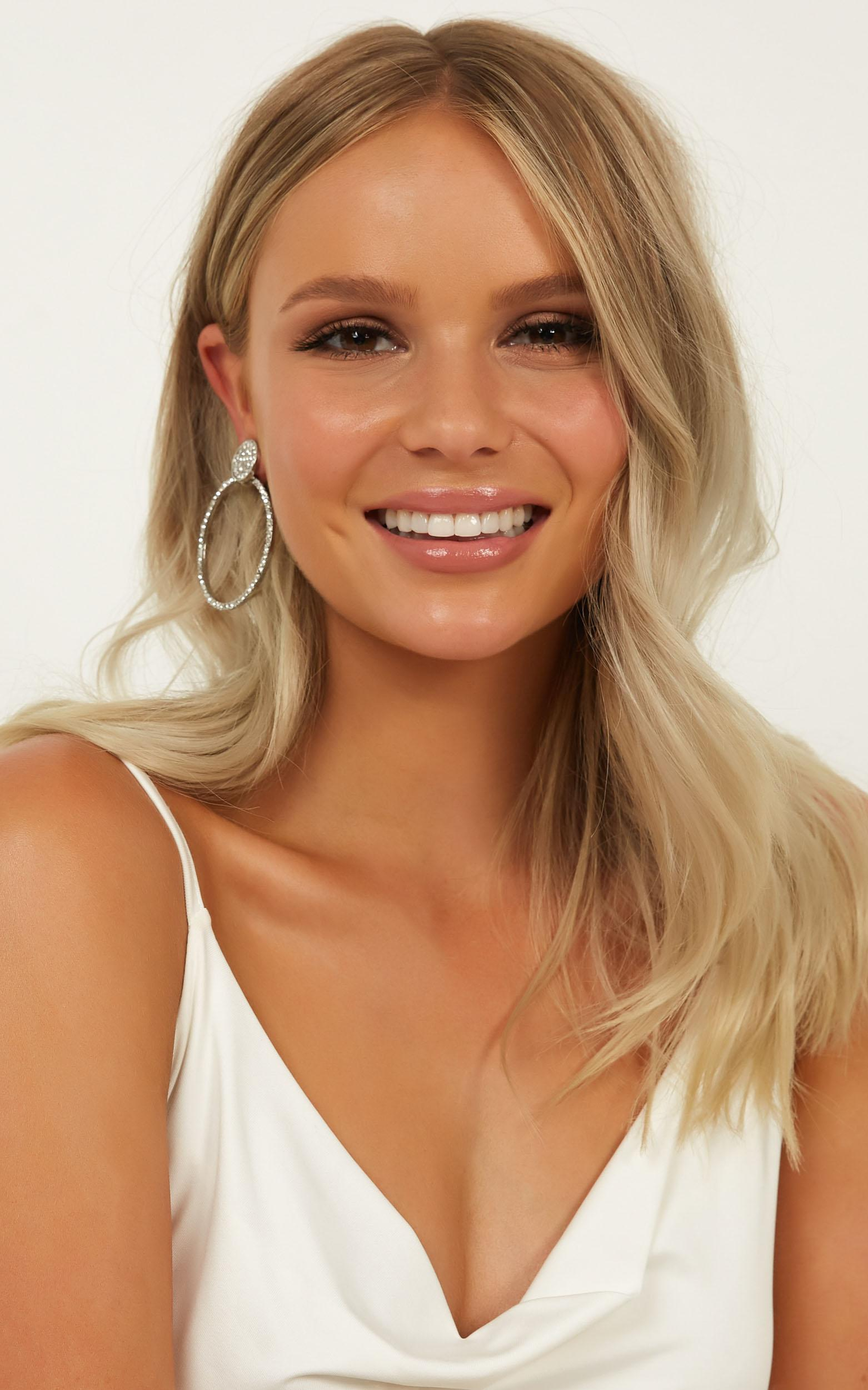 Cant Help Loving Earrings In Silver, , hi-res image number null
