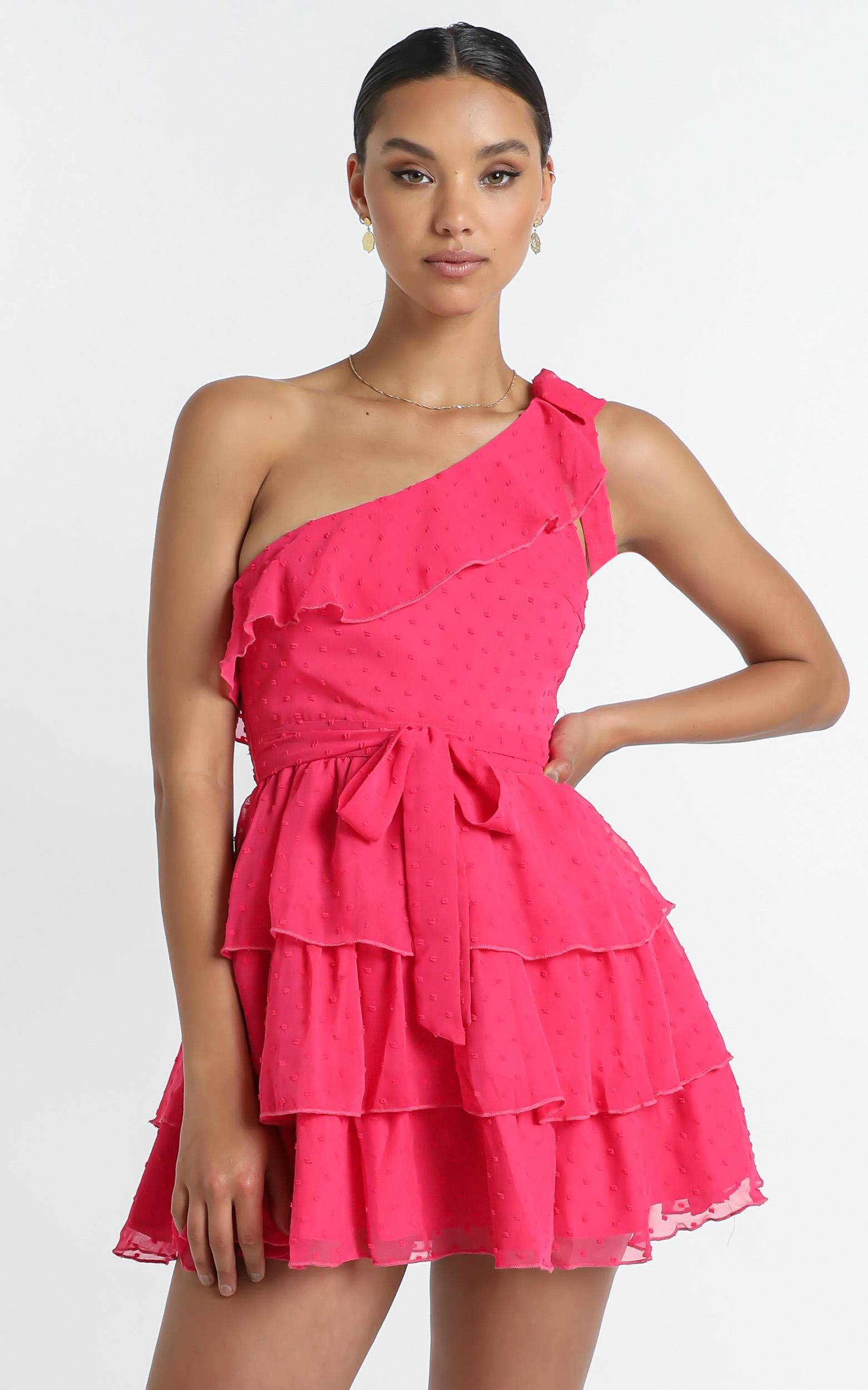 Darling I Am A Daydream Dress In hot pink - 16 (XXL), Pink, hi-res image number null