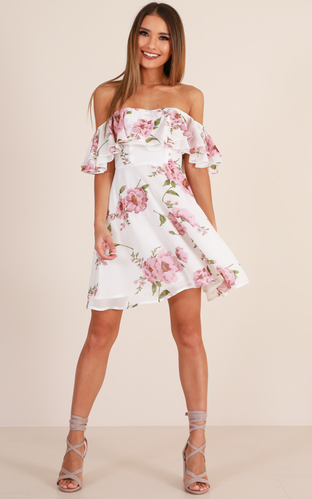 Rhapsody dress in white floral - 20 (XXXXL), White, hi-res image number null