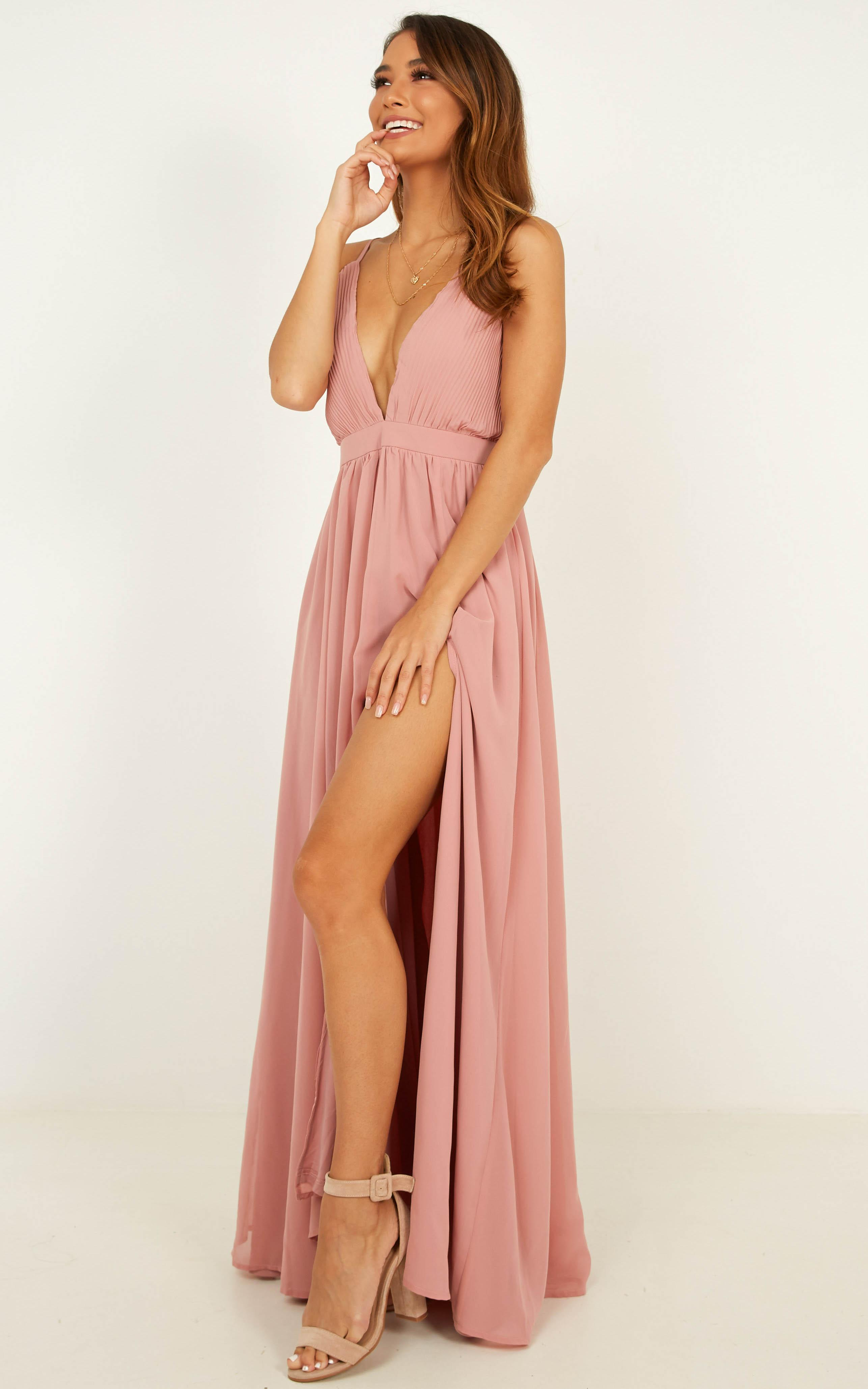 Shes A Delight Maxi Dress in dusty rose - 6 (XS), Pink, hi-res image number null