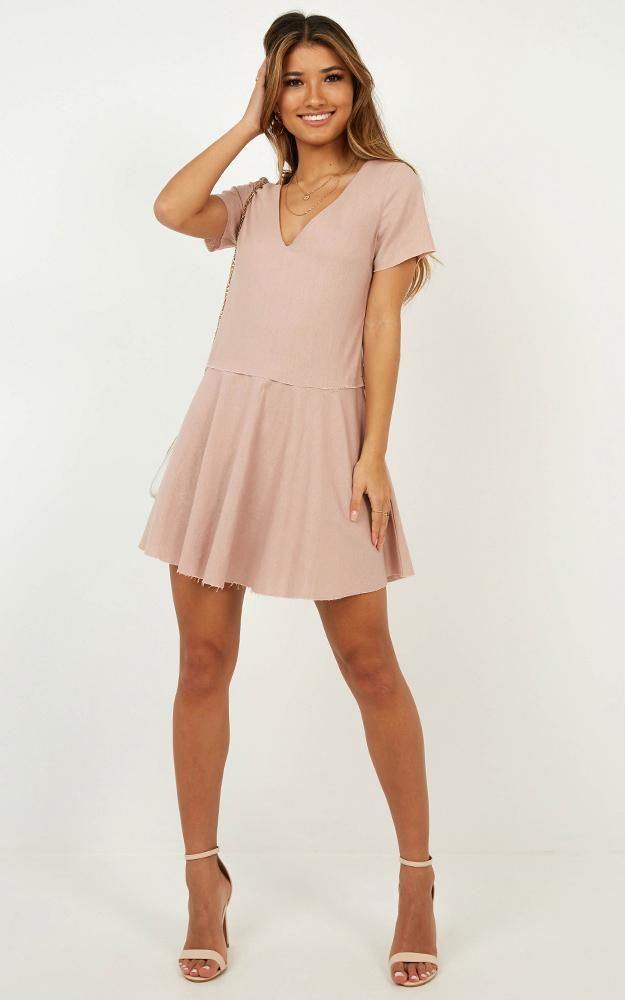 Get in Order Dress in blush linen look - 20 (XXXXL), Blush, hi-res image number null