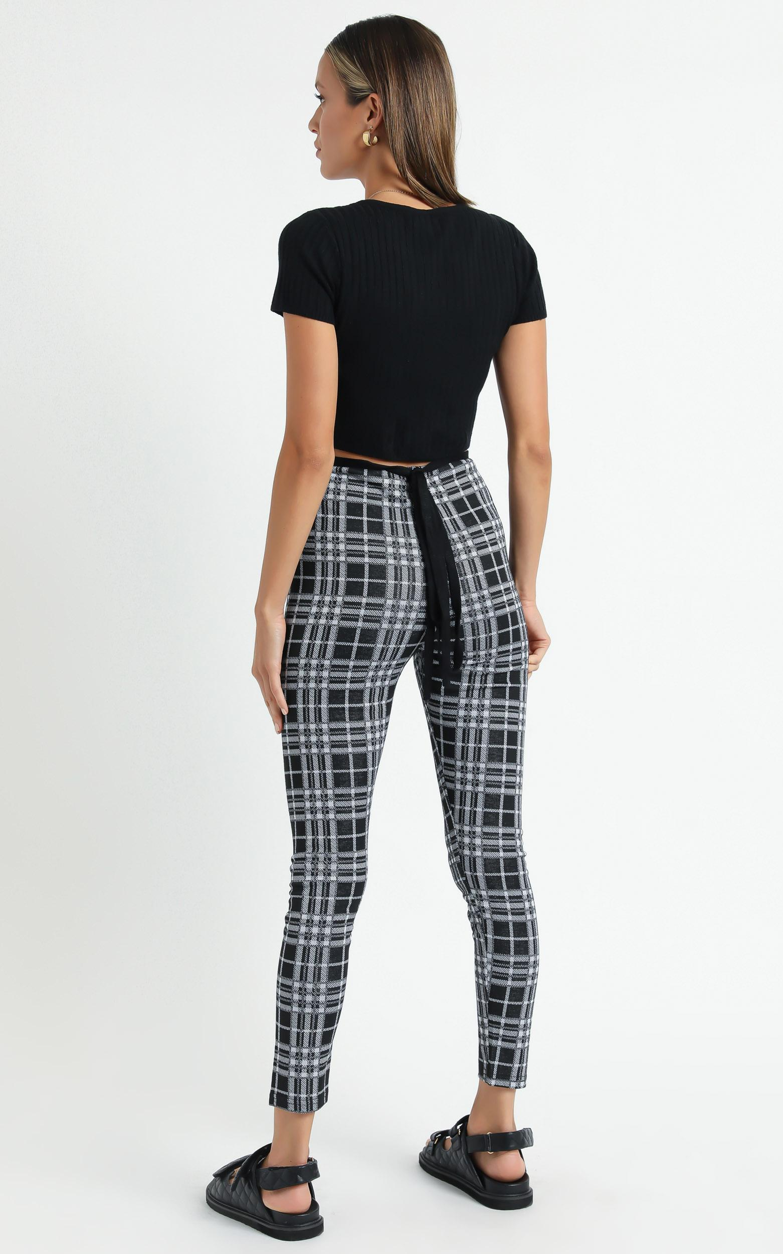 Brooklyn Baby pants in black check - 6 (XS), Black, hi-res image number null