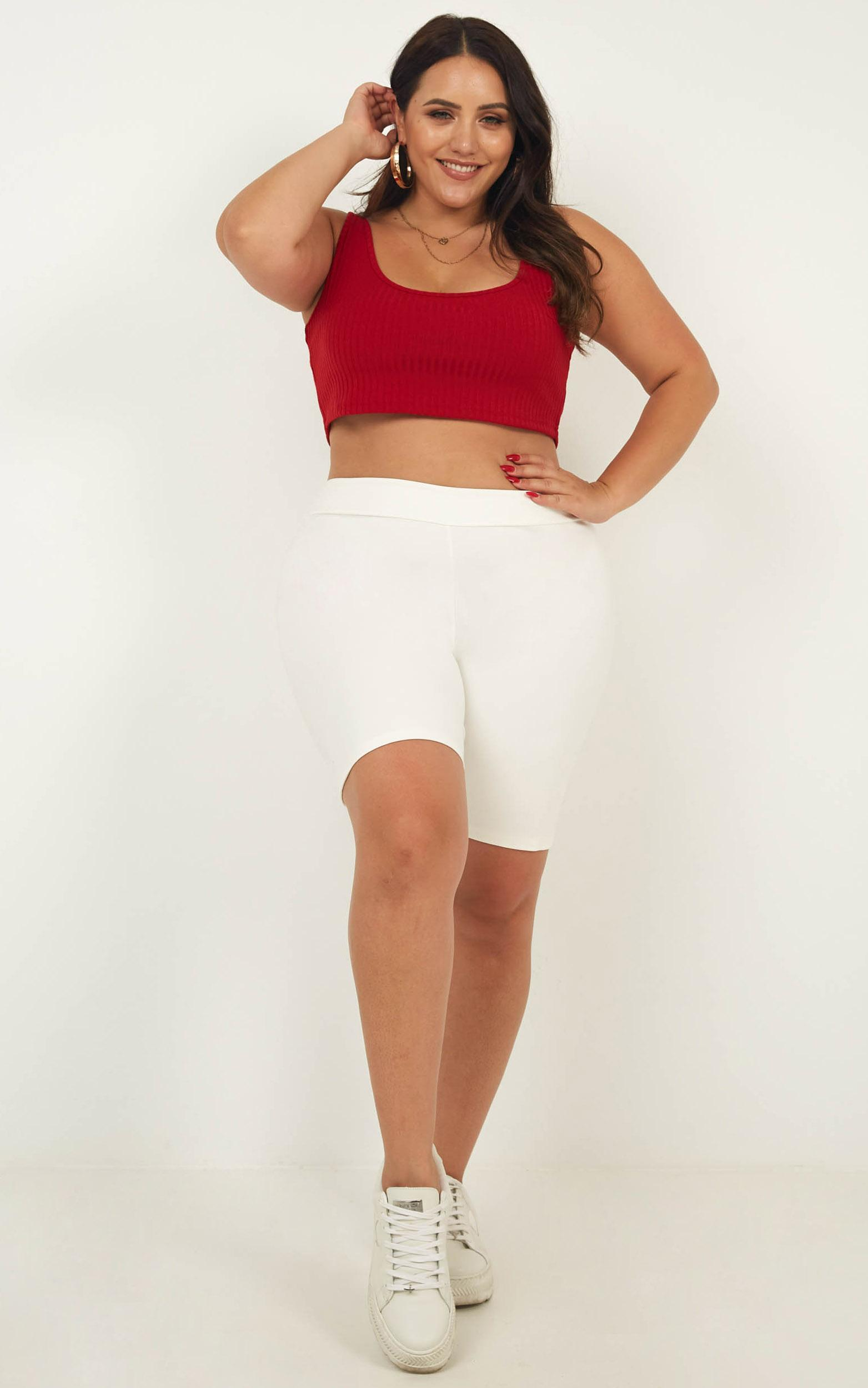 Burning Up Crop Top in red - 20 (XXXXL), Red, hi-res image number null