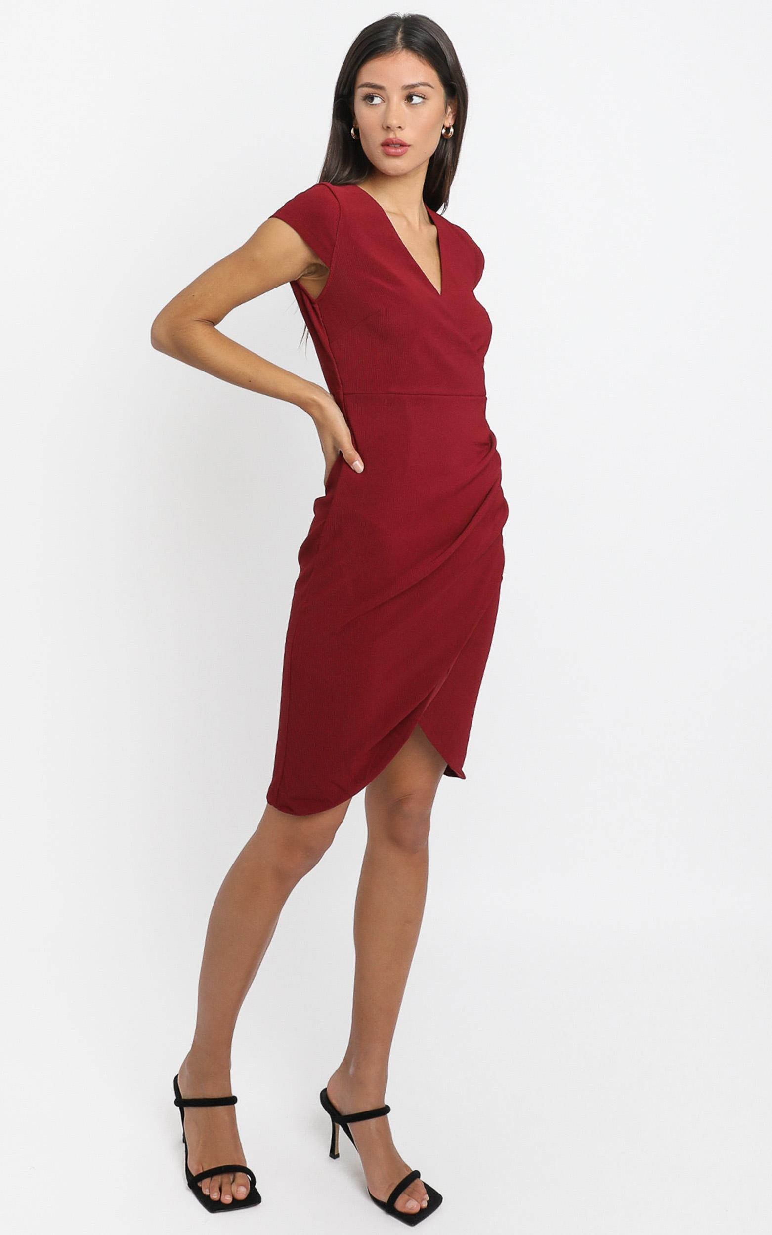 Quick Decider Dress in wine - 20 (XXXXL), Wine, hi-res image number null