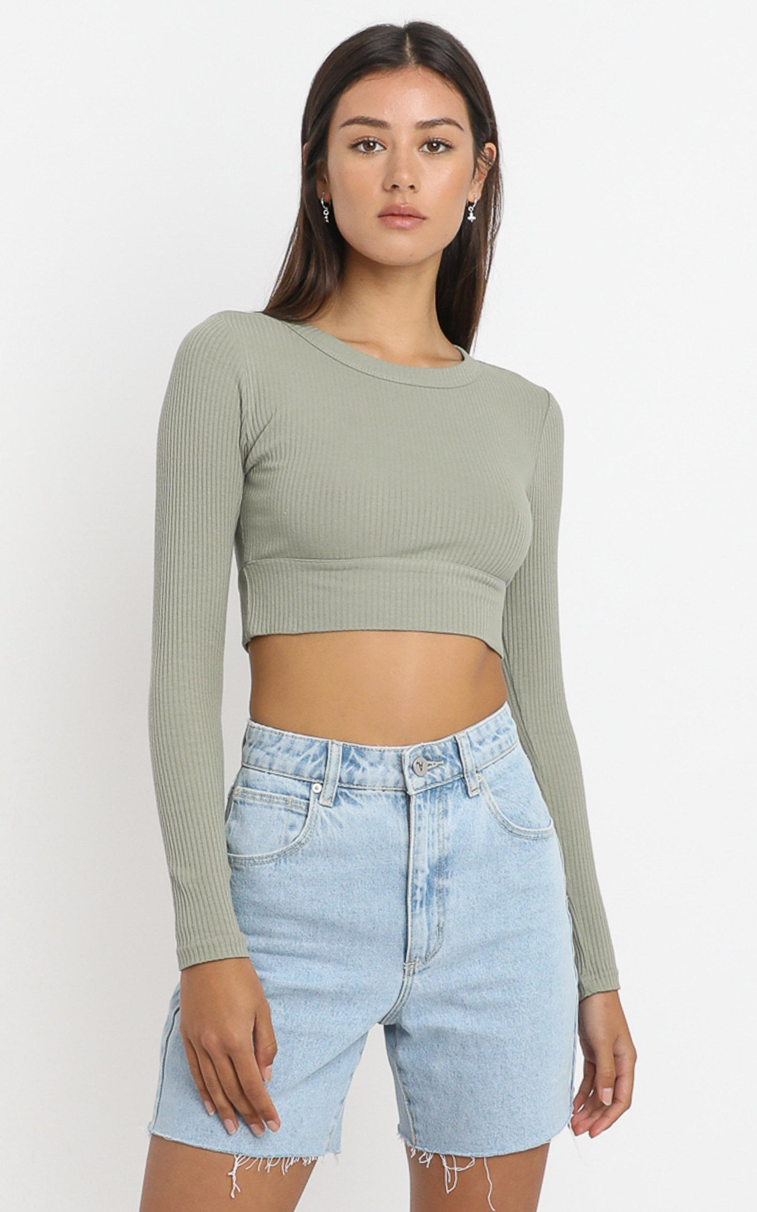Asher Top in Khaki - 6 (XS), Khaki, hi-res image number null