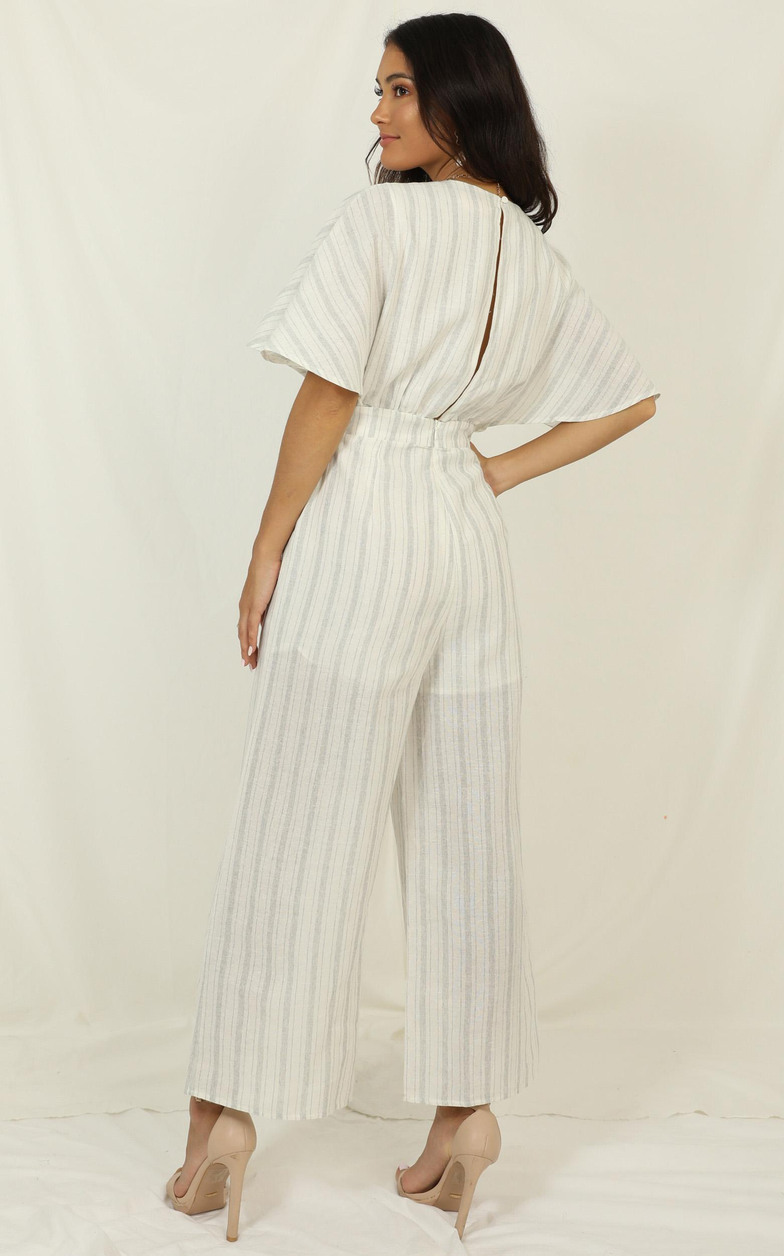 Dont Miss Out Jumpsuit in Light  Blue Stripe - 20 (XXXXL), Blue, hi-res image number null